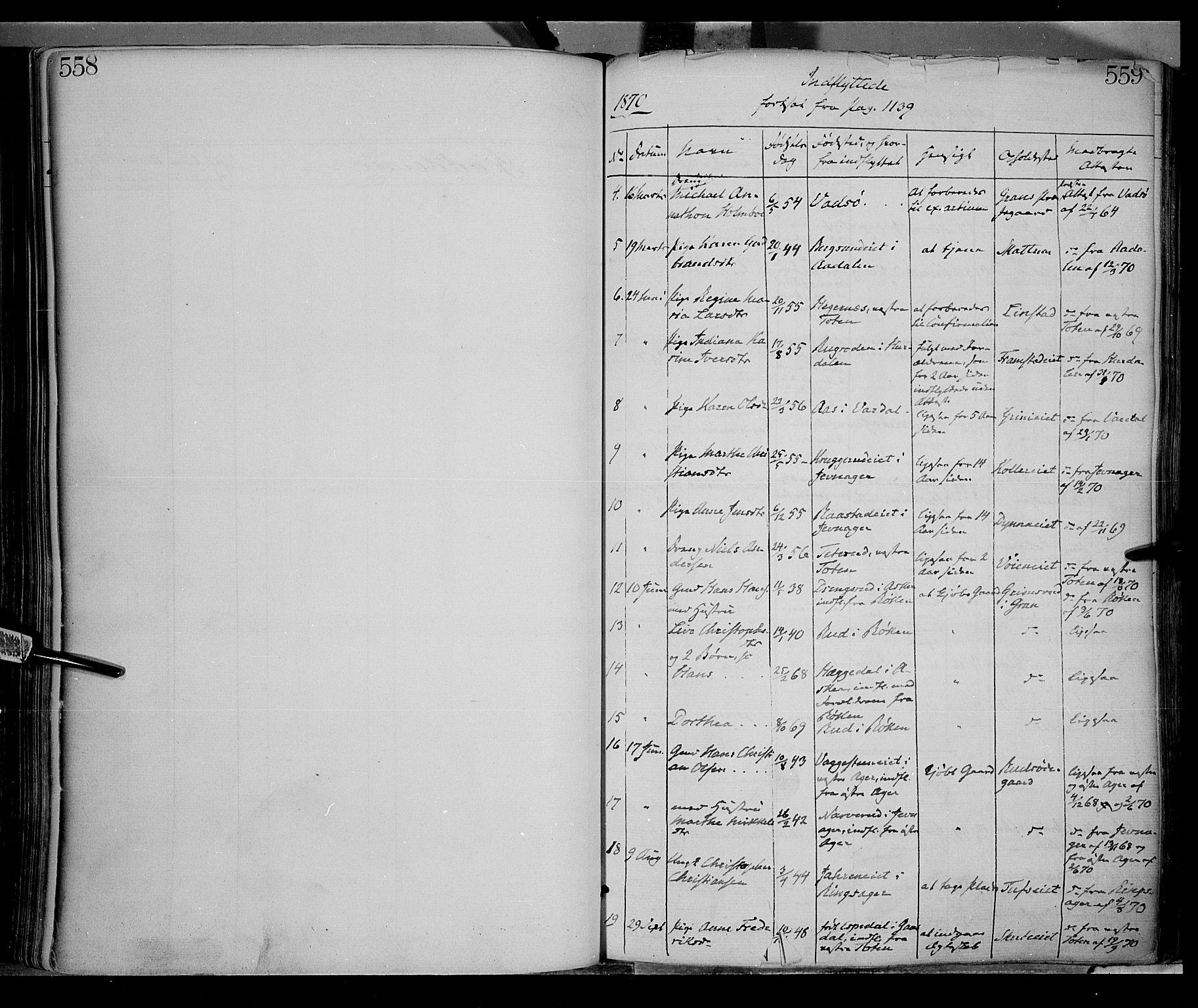 SAH, Gran prestekontor, Ministerialbok nr. 12, 1856-1874, s. 558-559