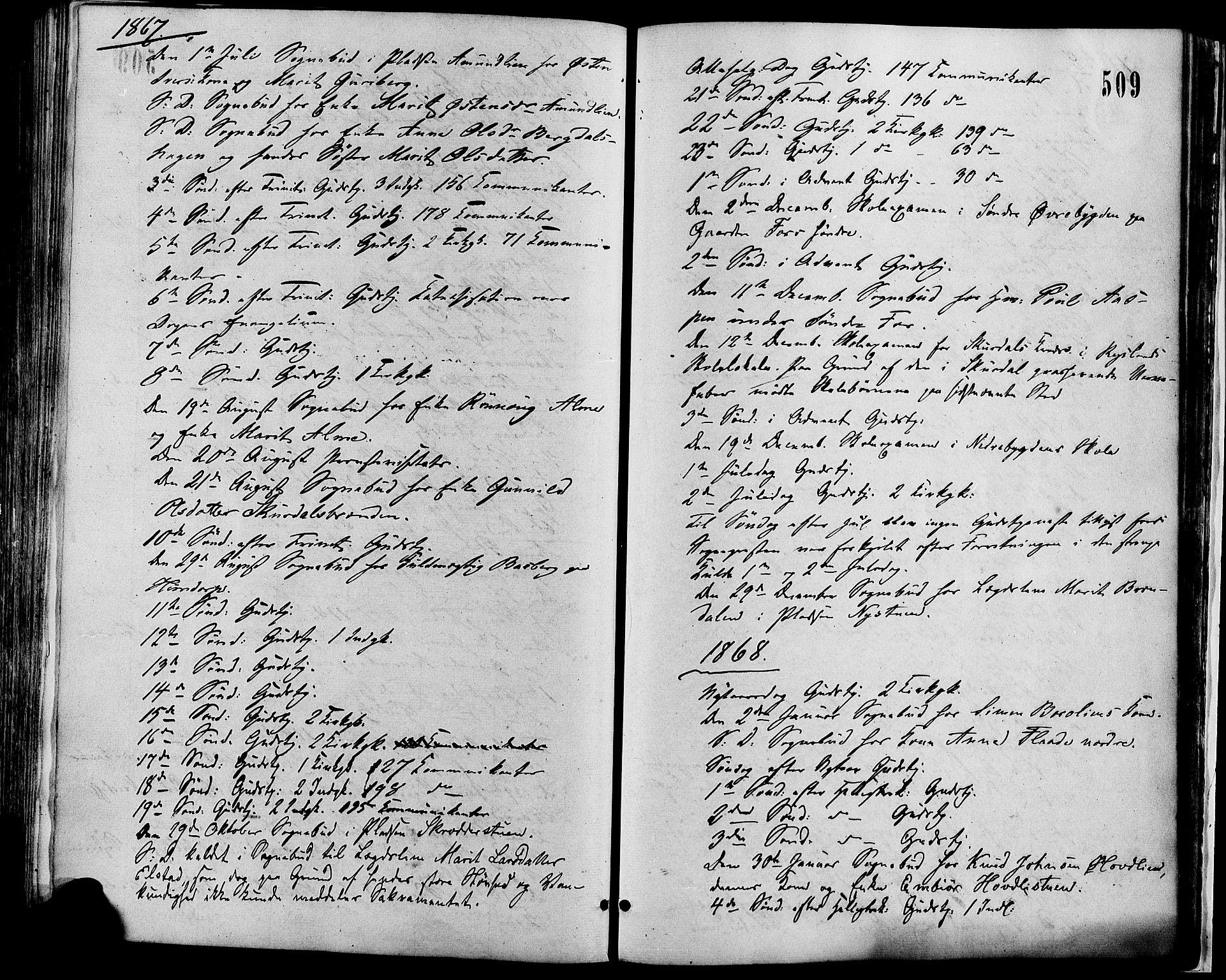SAH, Sør-Fron prestekontor, H/Ha/Haa/L0002: Ministerialbok nr. 2, 1864-1880, s. 509