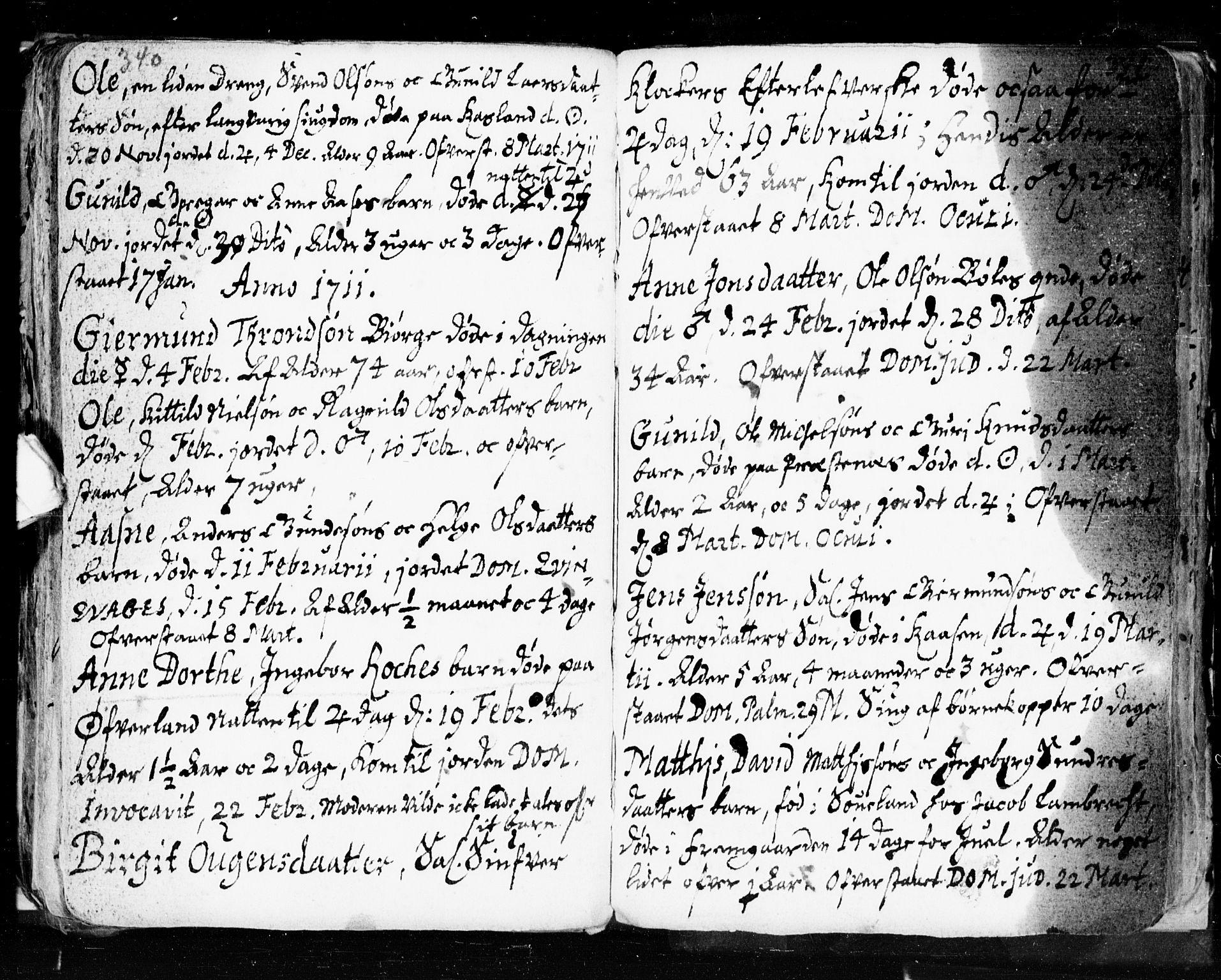 SAKO, Seljord kirkebøker, F/Fa/L0002: Ministerialbok nr. I 2, 1689-1713, s. 340-341