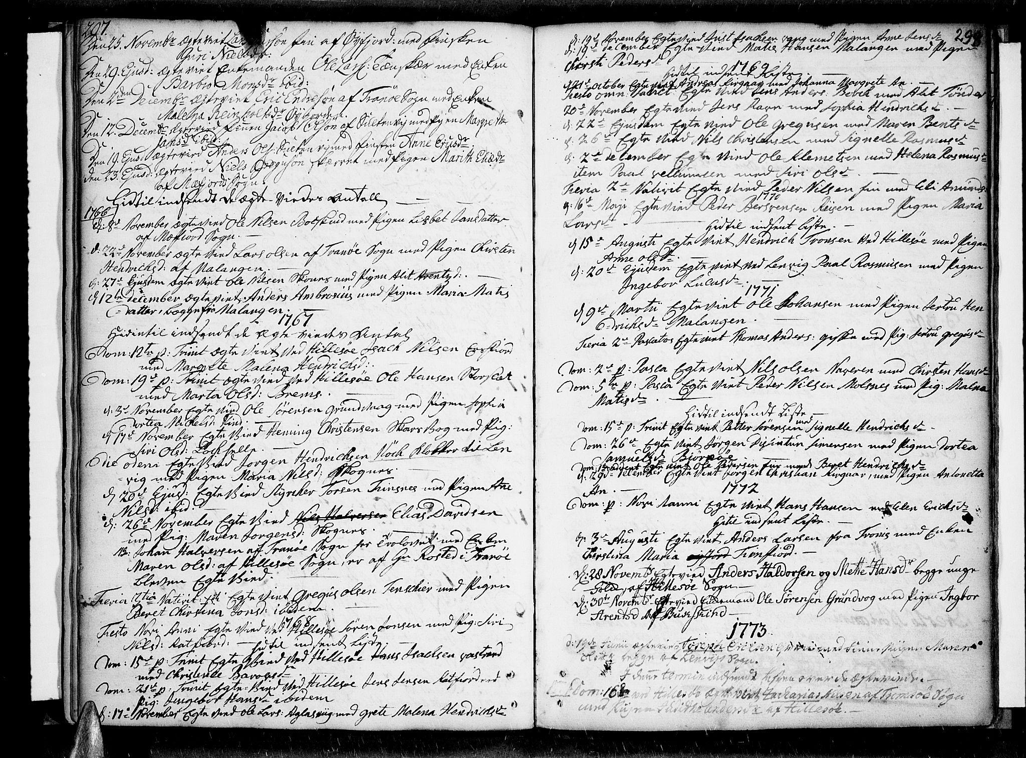 SATØ, Lenvik sokneprestembete, H/Ha: Ministerialbok nr. 1, 1753-1783, s. 297-298