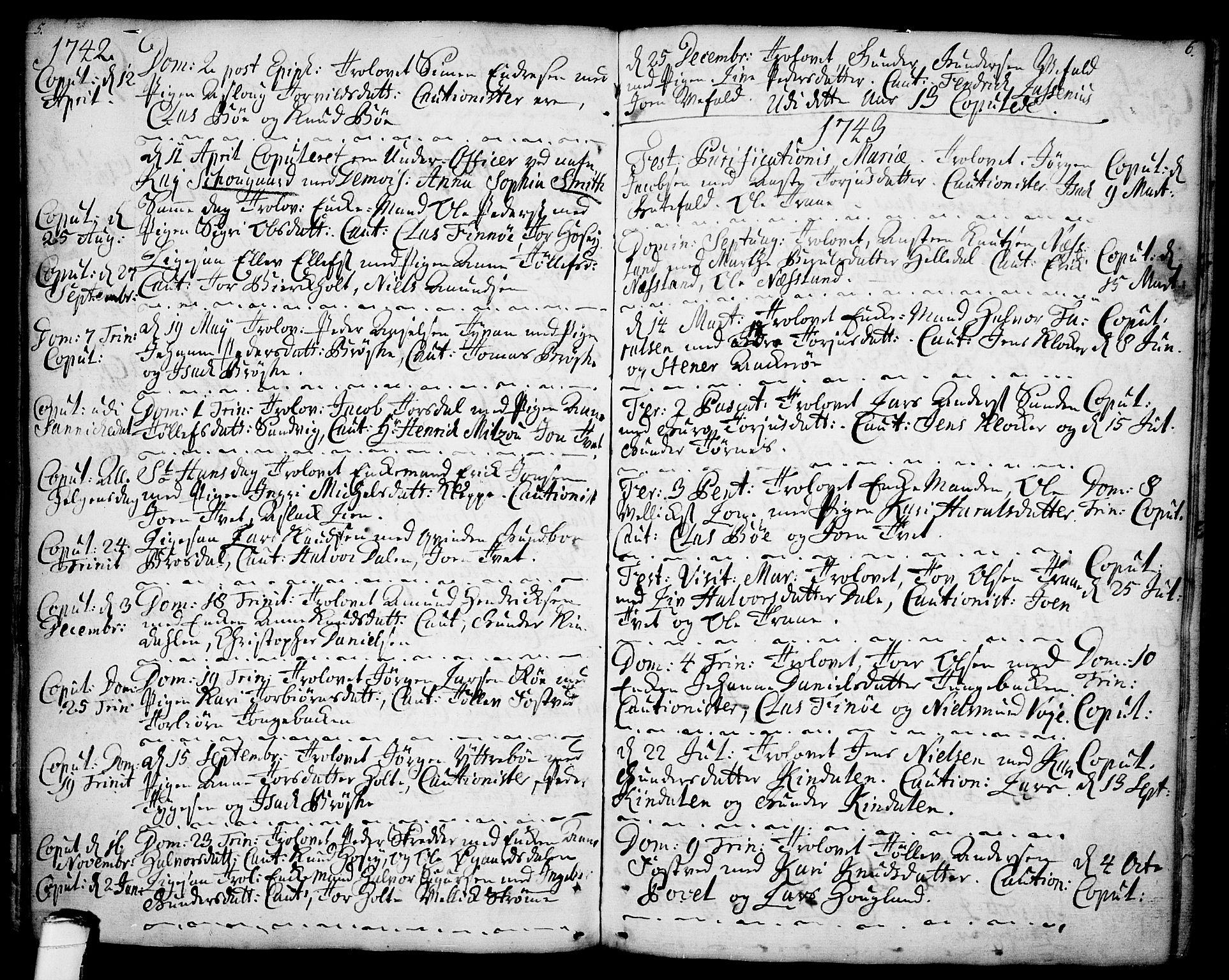 SAKO, Drangedal kirkebøker, F/Fa/L0001: Ministerialbok nr. 1, 1697-1767, s. 5-6