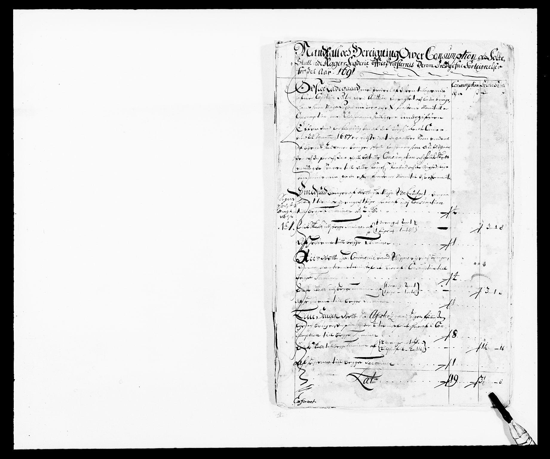 RA, Rentekammeret inntil 1814, Reviderte regnskaper, Fogderegnskap, R08/L0423: Fogderegnskap Aker, 1687-1689, s. 311