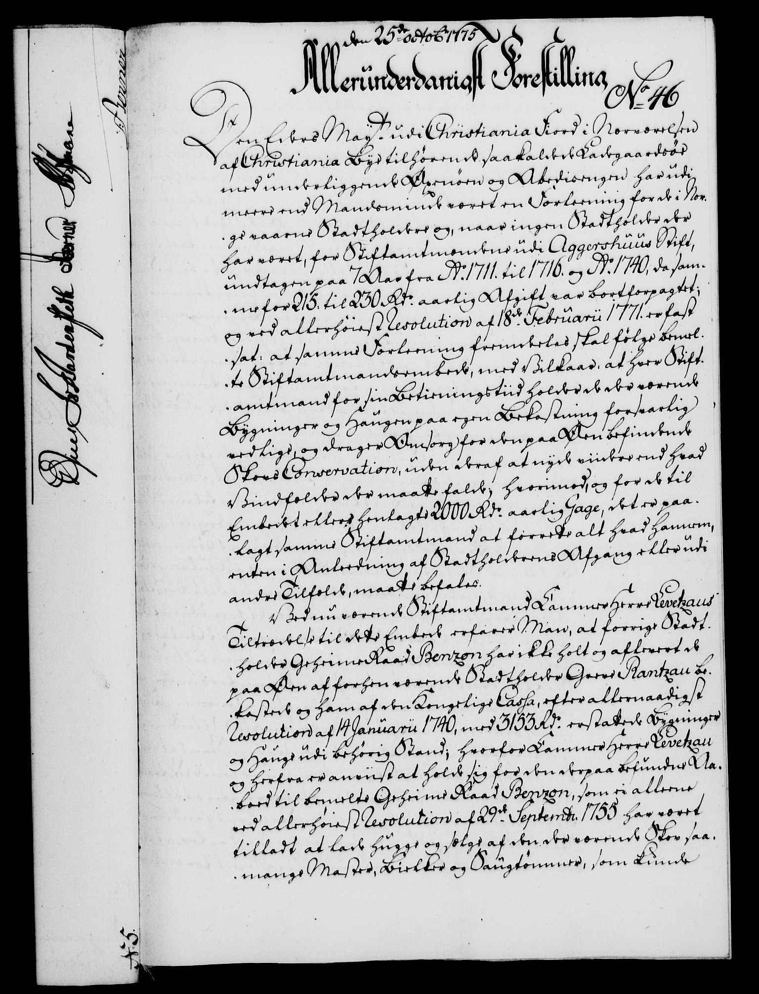 RA, Rentekammeret, Kammerkanselliet, G/Gf/Gfa/L0057: Norsk relasjons- og resolusjonsprotokoll (merket RK 52.57), 1775, s. 182
