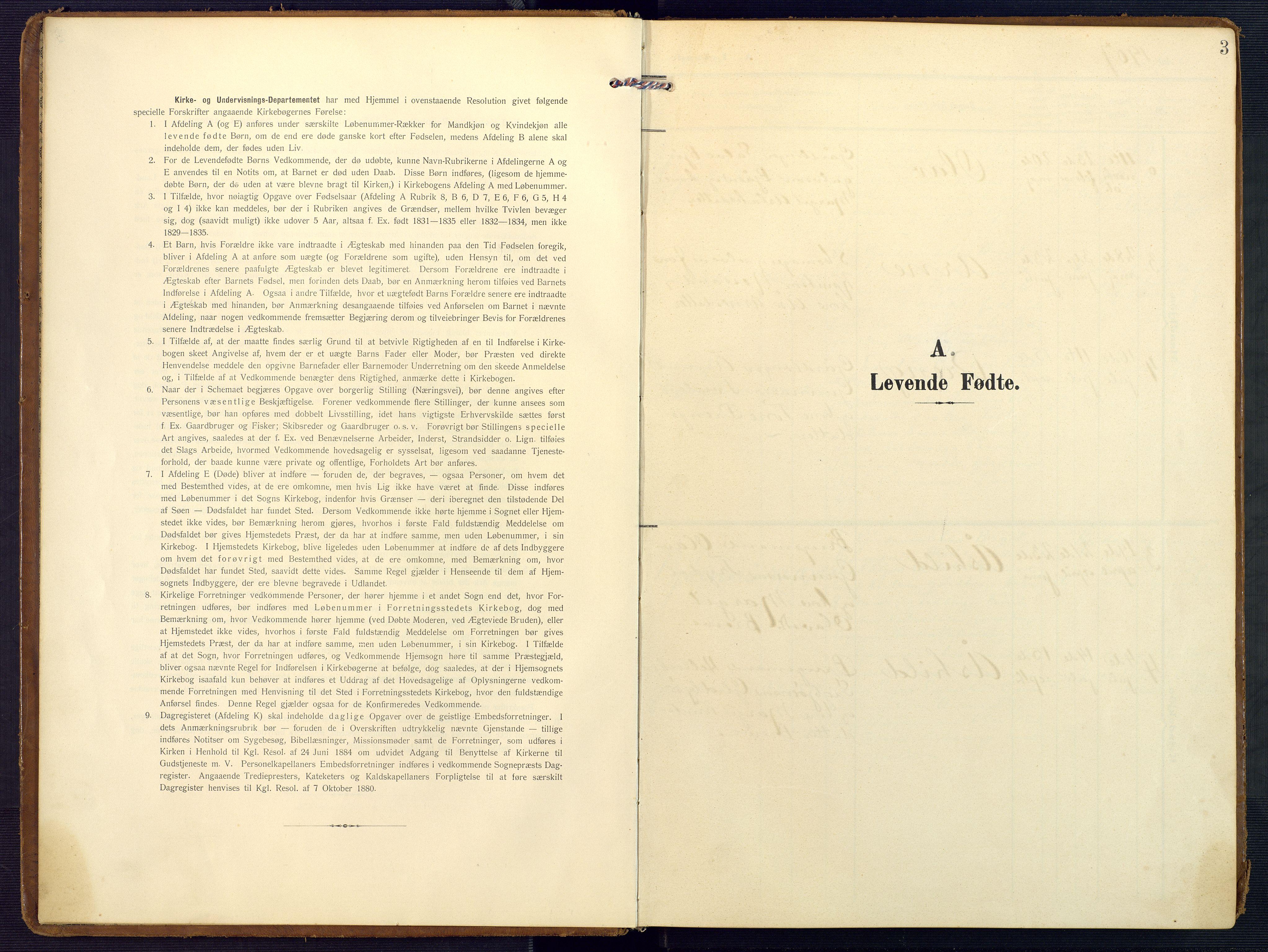 SAK, Valle sokneprestkontor, F/Fa/Faa/L0002: Ministerialbok nr. A 2, 1907-1919, s. 3