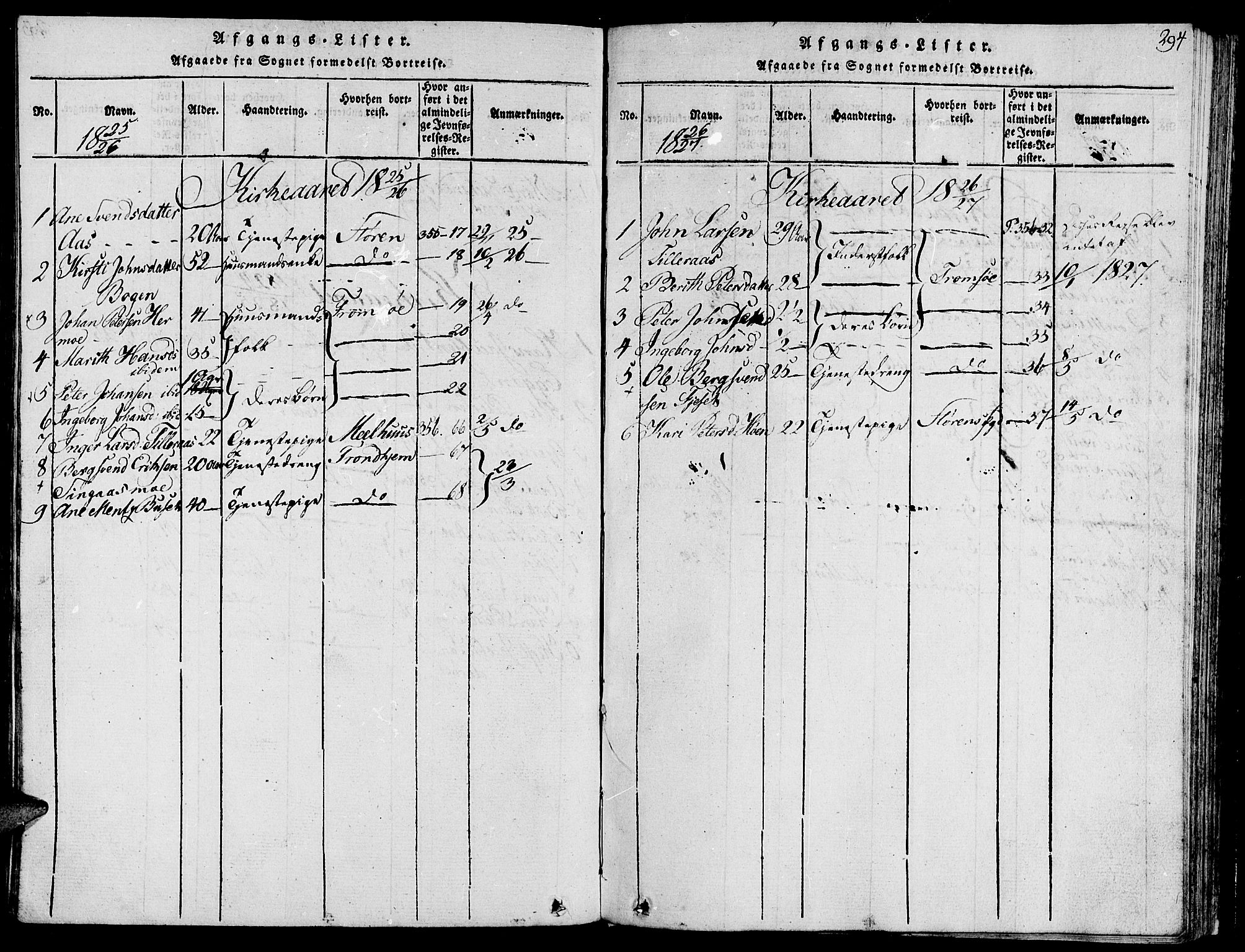 SAT, Ministerialprotokoller, klokkerbøker og fødselsregistre - Sør-Trøndelag, 685/L0955: Ministerialbok nr. 685A03 /2, 1817-1829, s. 294