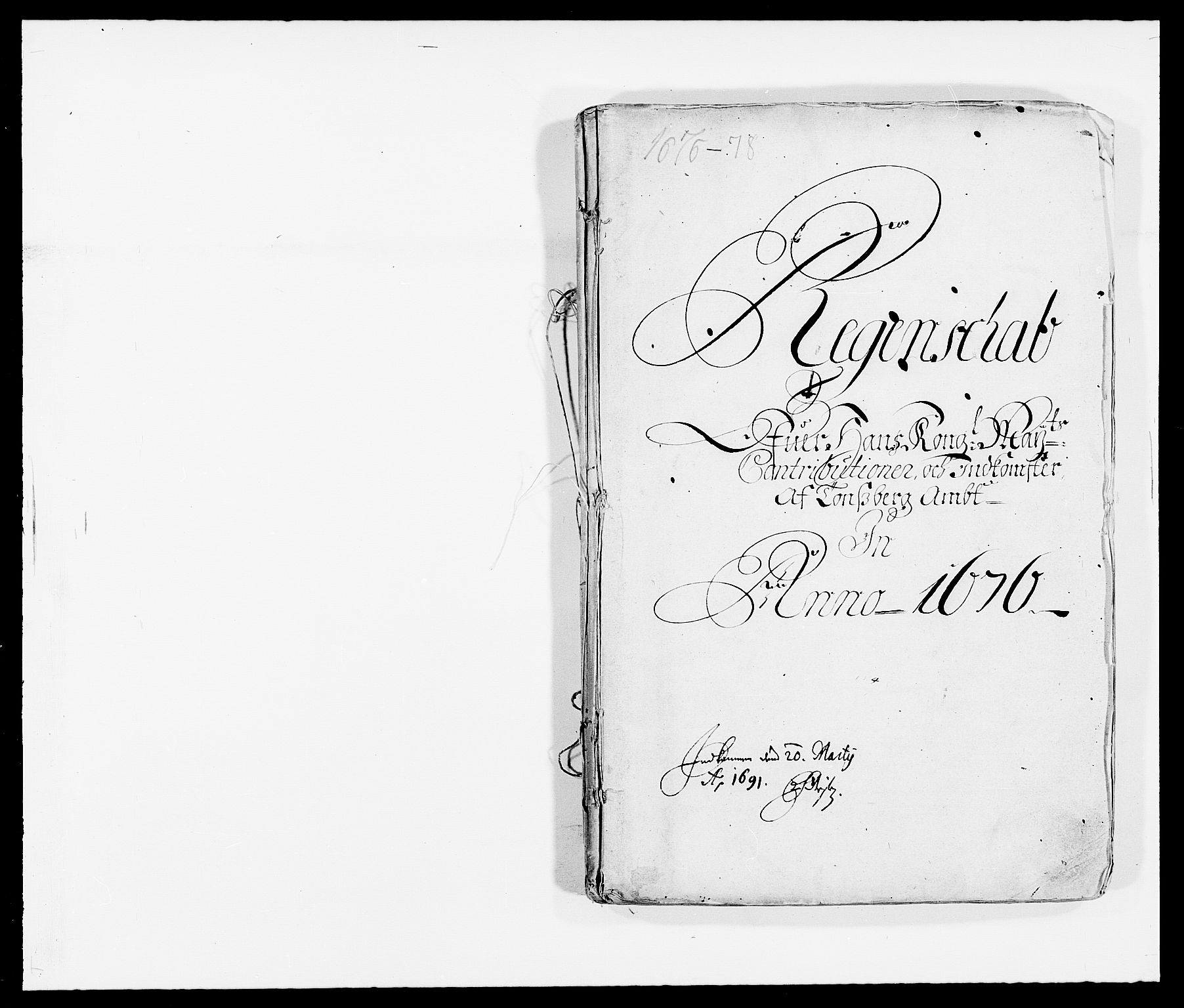 RA, Rentekammeret inntil 1814, Reviderte regnskaper, Fogderegnskap, R32/L1845: Fogderegnskap Jarlsberg grevskap, 1676-1678, s. 1