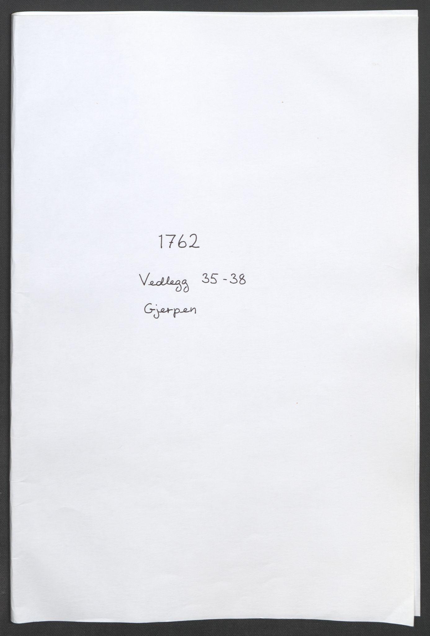 RA, Rentekammeret inntil 1814, Reviderte regnskaper, Fogderegnskap, R37/L2239: Ekstraskatten Nedre Telemark og Bamble, 1762-1763, s. 300