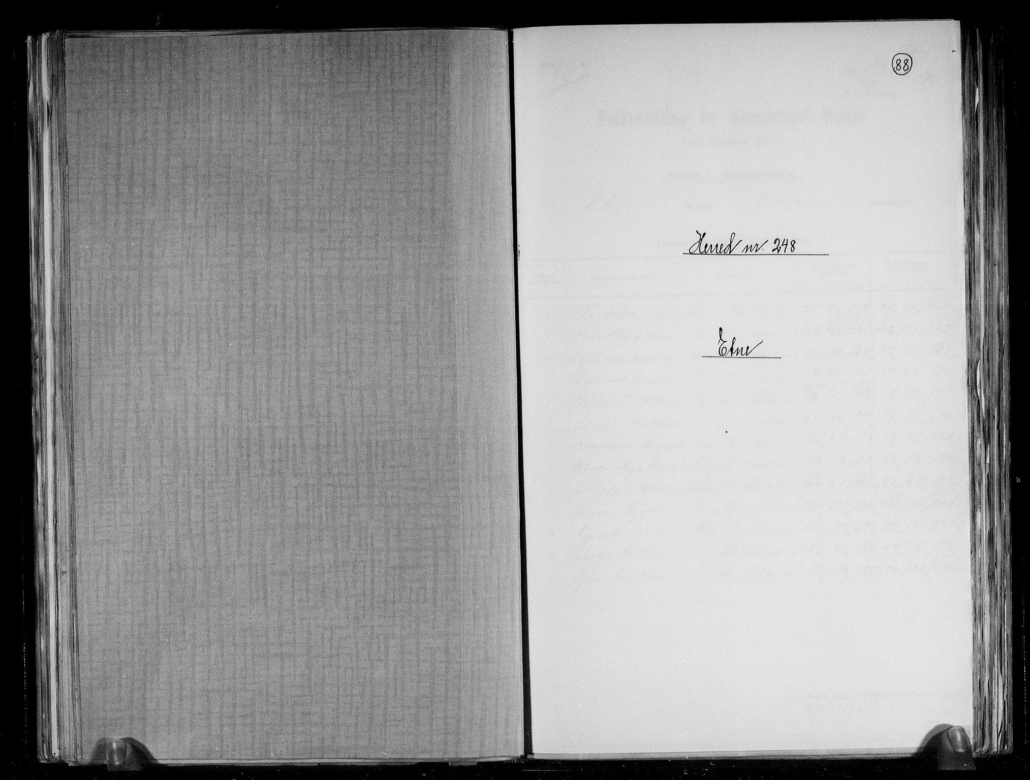 RA, Folketelling 1891 for 1211 Etne herred, 1891, s. 1