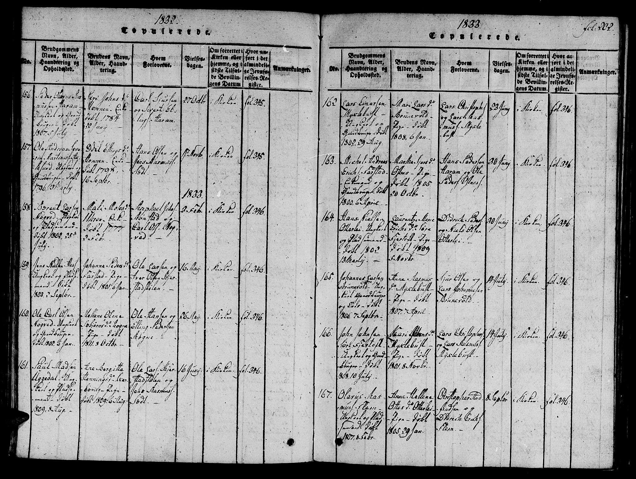 SAT, Ministerialprotokoller, klokkerbøker og fødselsregistre - Møre og Romsdal, 536/L0495: Ministerialbok nr. 536A04, 1818-1847, s. 202