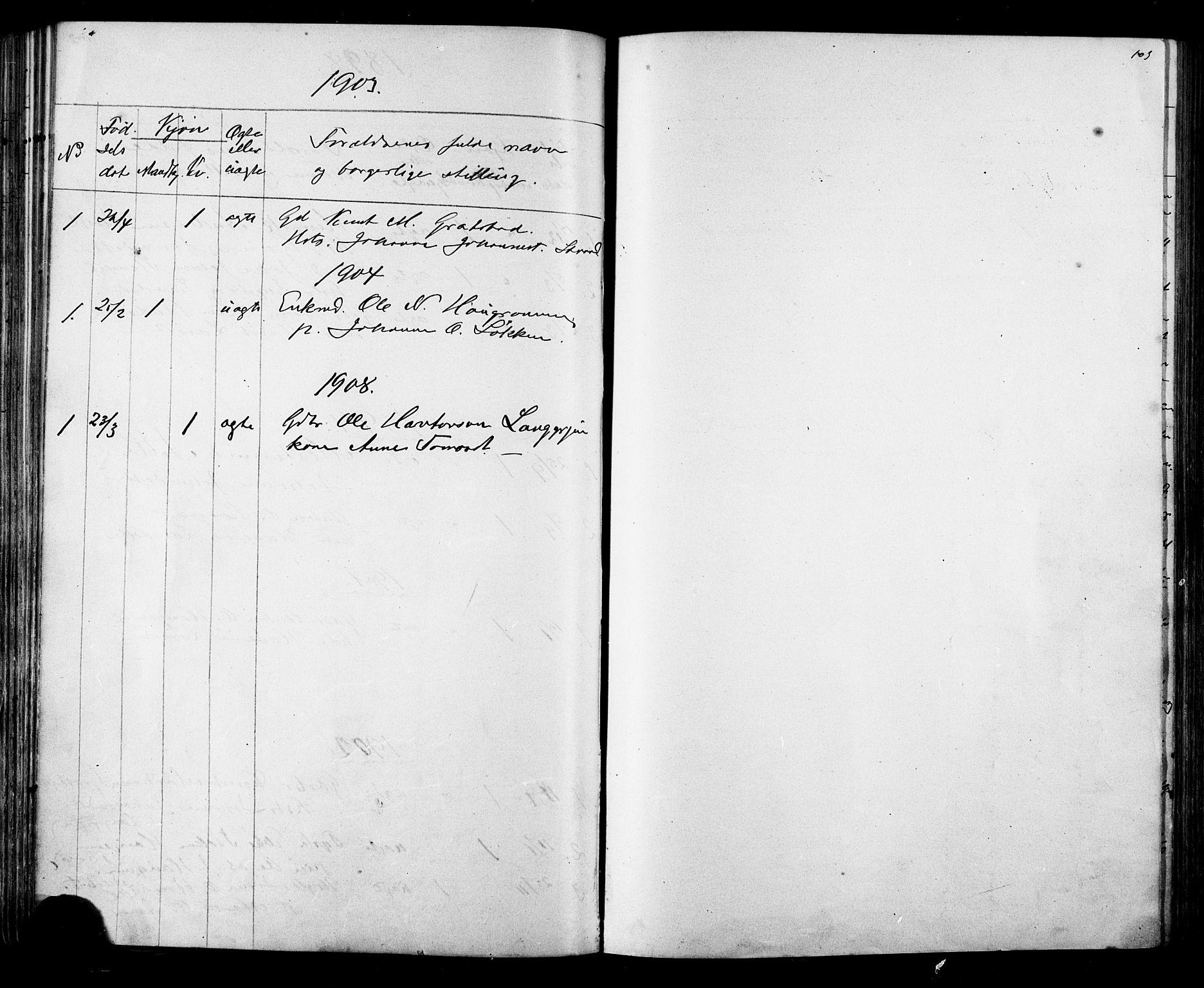 SAT, Ministerialprotokoller, klokkerbøker og fødselsregistre - Sør-Trøndelag, 612/L0387: Klokkerbok nr. 612C03, 1874-1908, s. 103