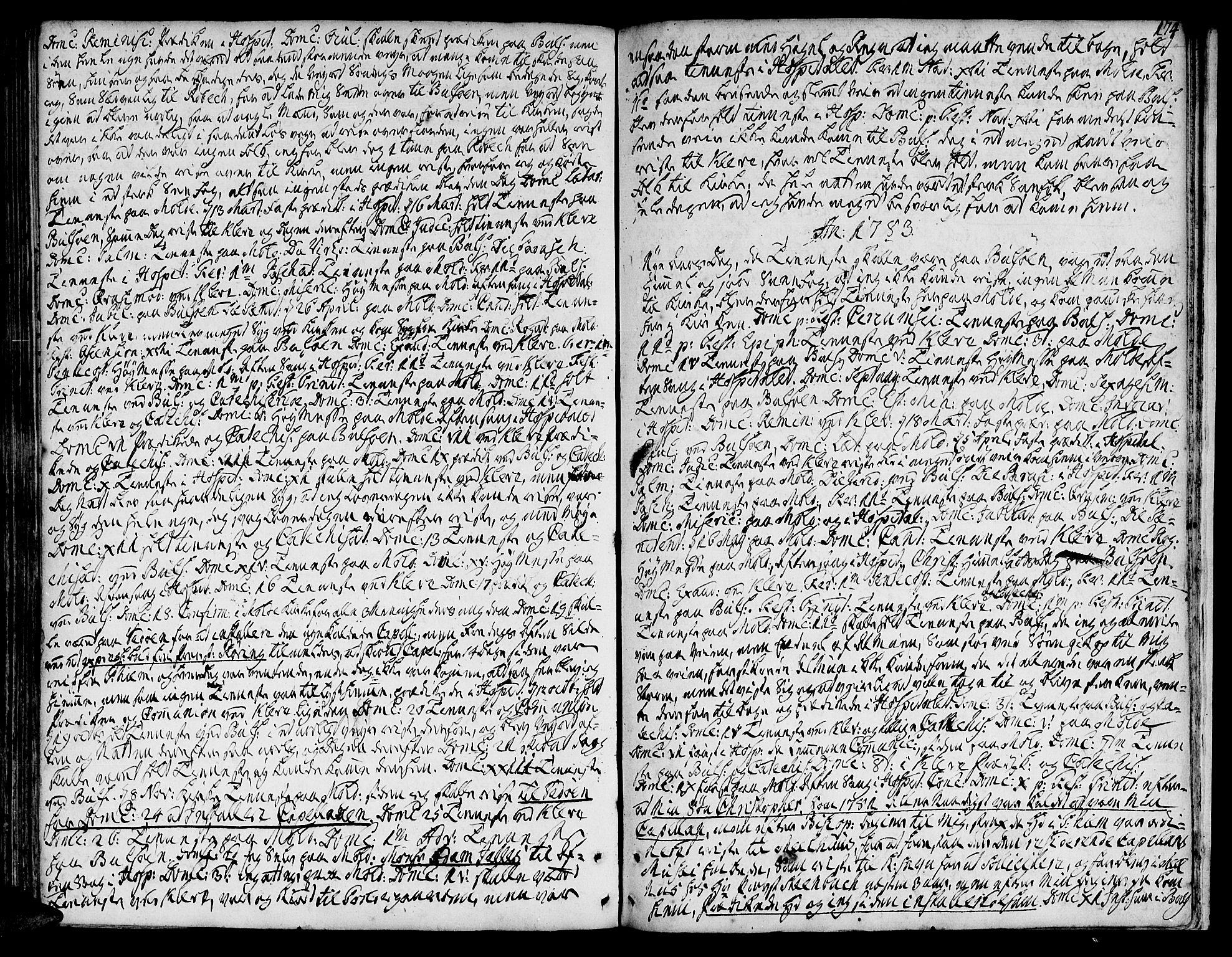 SAT, Ministerialprotokoller, klokkerbøker og fødselsregistre - Møre og Romsdal, 555/L0648: Ministerialbok nr. 555A01, 1759-1793, s. 174