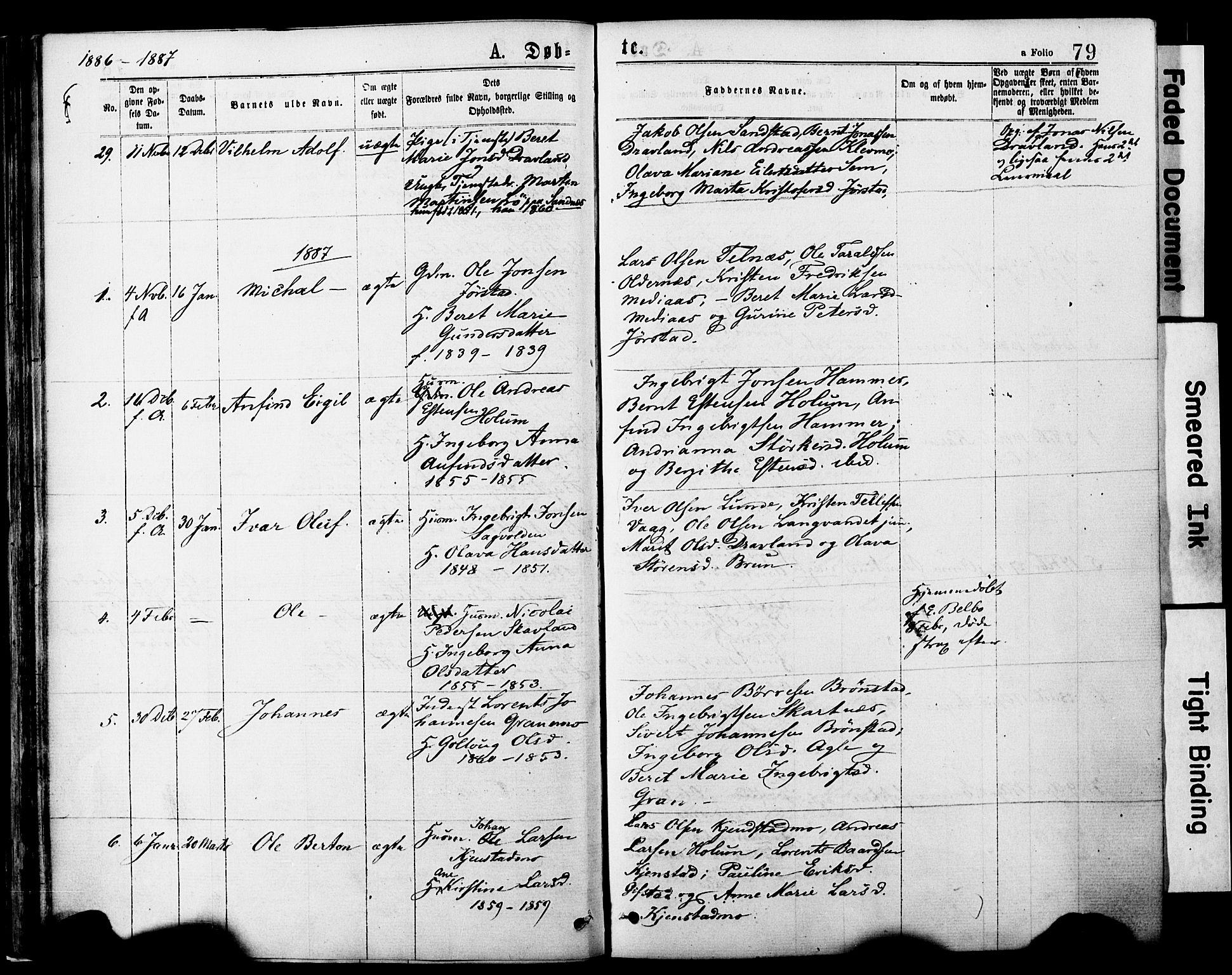 SAT, Ministerialprotokoller, klokkerbøker og fødselsregistre - Nord-Trøndelag, 749/L0473: Ministerialbok nr. 749A07, 1873-1887, s. 79
