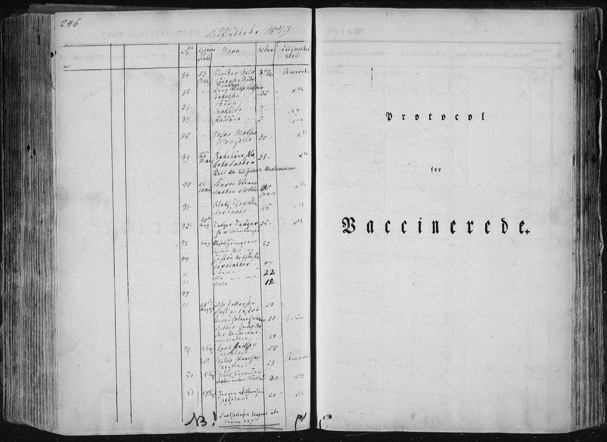 SAKO, Sannidal kirkebøker, F/Fa/L0007: Ministerialbok nr. 7, 1831-1854, s. 246