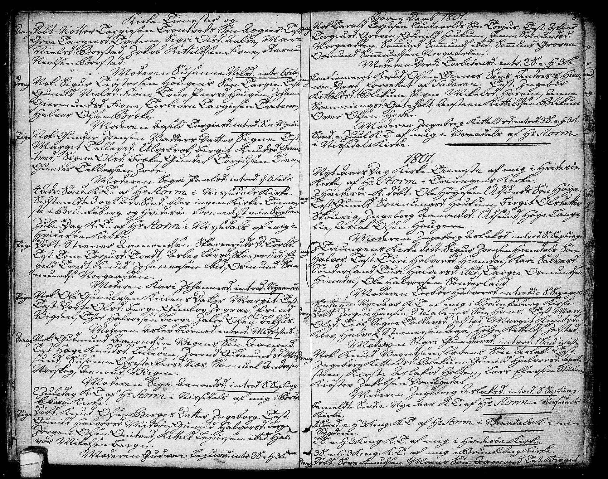 SAKO, Kviteseid kirkebøker, F/Fa/L0004: Ministerialbok nr. I 4, 1800-1814, s. 8