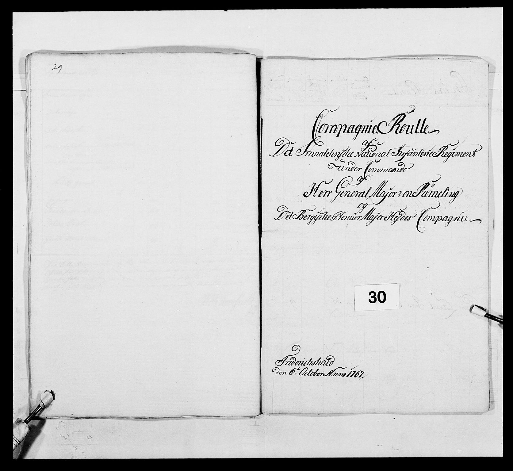RA, Kommanderende general (KG I) med Det norske krigsdirektorium, E/Ea/L0496: 1. Smålenske regiment, 1765-1767, s. 553