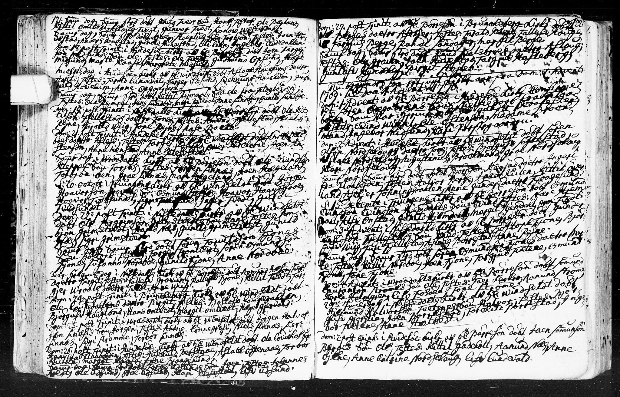 SAKO, Kviteseid kirkebøker, F/Fa/L0001: Ministerialbok nr. I 1, 1754-1773, s. 121-122