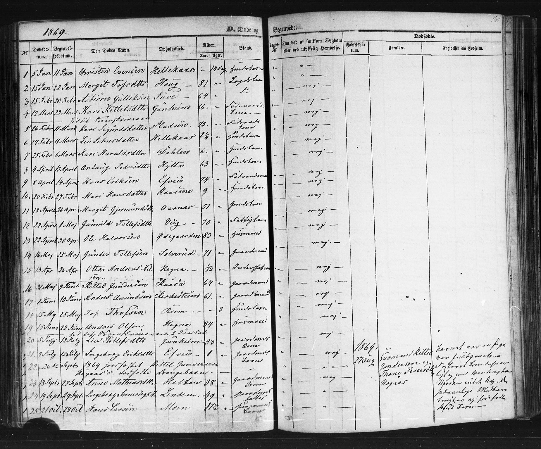 SAKO, Sauherad kirkebøker, F/Fb/L0001: Ministerialbok nr. II 1, 1851-1877, s. 160