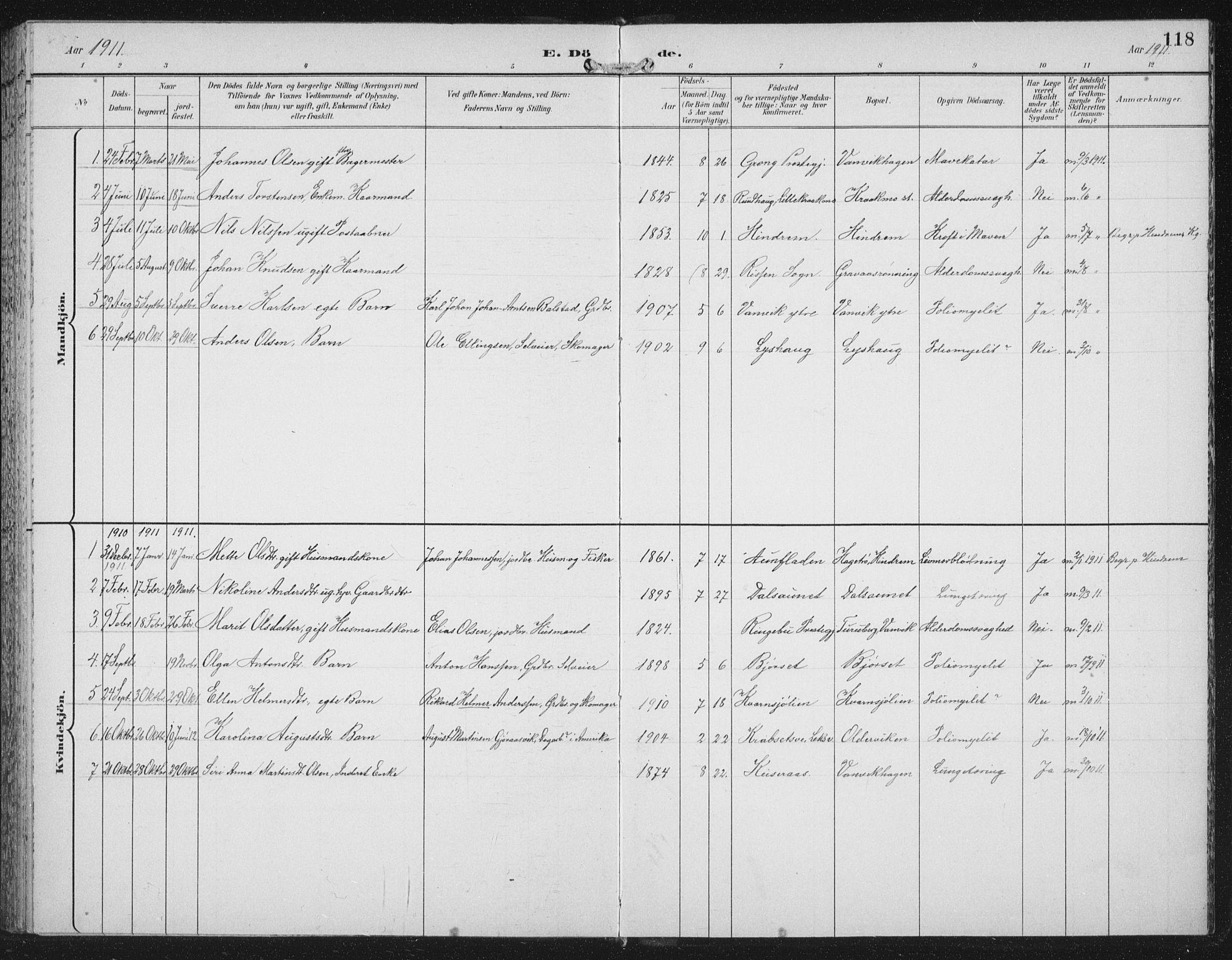 SAT, Ministerialprotokoller, klokkerbøker og fødselsregistre - Nord-Trøndelag, 702/L0024: Ministerialbok nr. 702A02, 1898-1914, s. 118