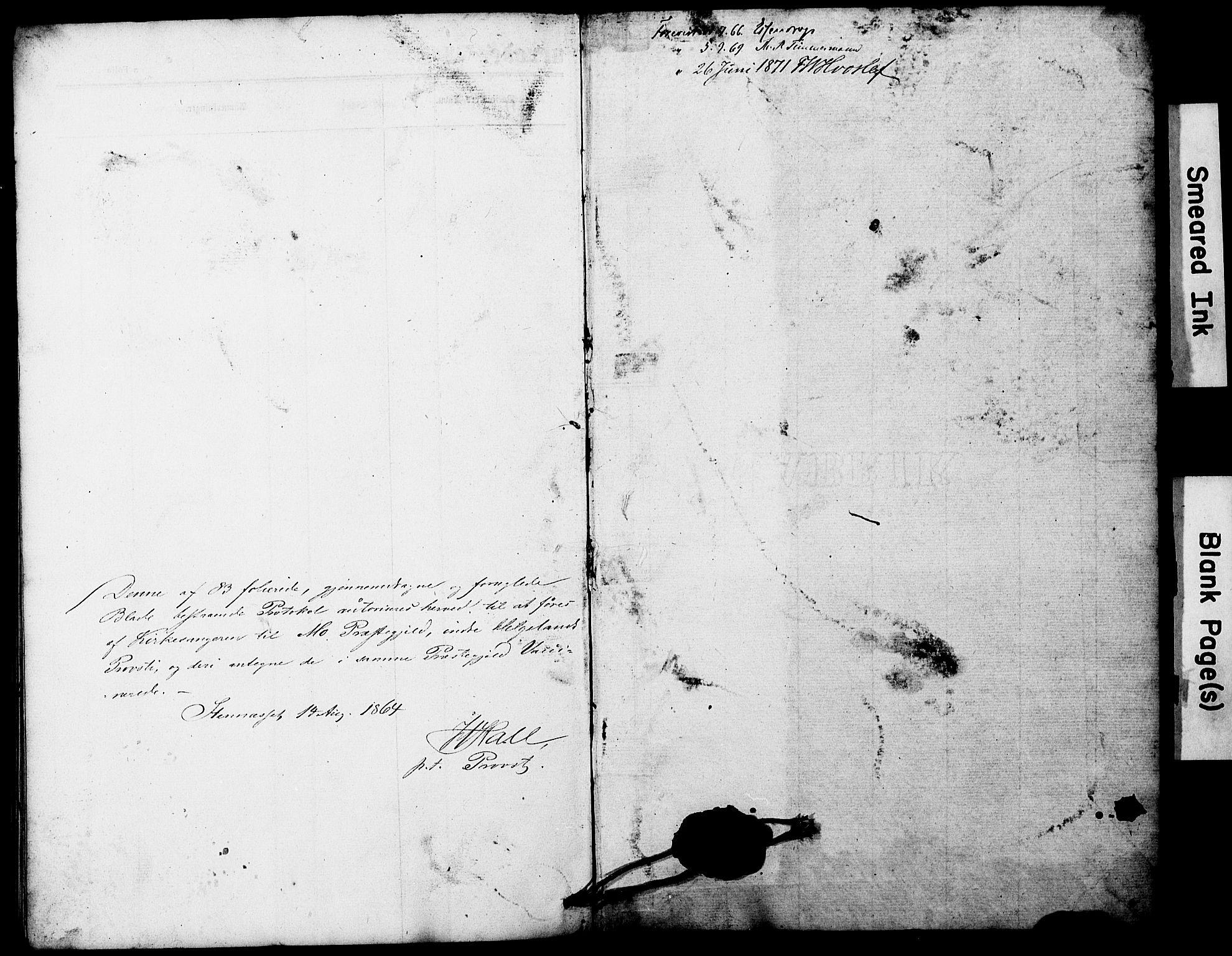 SAT, Ministerialprotokoller, klokkerbøker og fødselsregistre - Nordland, 827/L0428: Klokkerbok nr. 827C17, 1861-1870