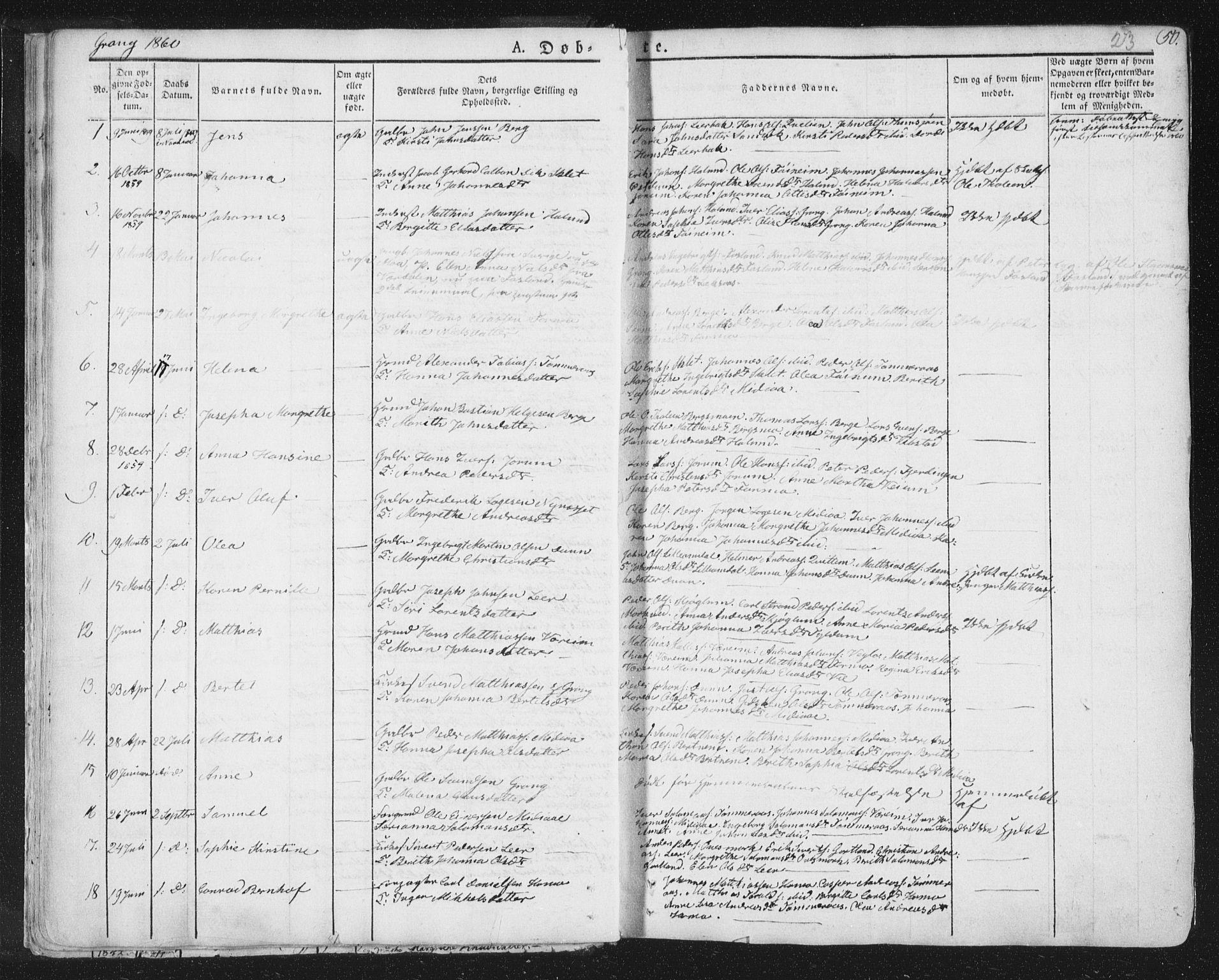 SAT, Ministerialprotokoller, klokkerbøker og fødselsregistre - Nord-Trøndelag, 758/L0513: Ministerialbok nr. 758A02 /1, 1839-1868, s. 23
