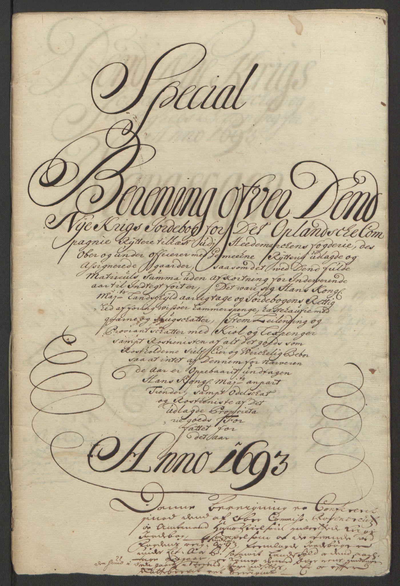 RA, Rentekammeret inntil 1814, Reviderte regnskaper, Fogderegnskap, R16/L1034: Fogderegnskap Hedmark, 1693, s. 132