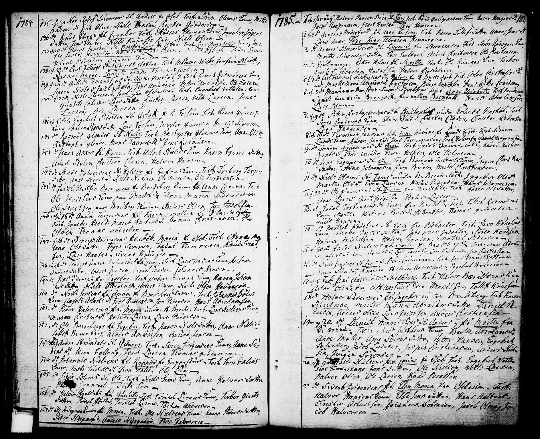 SAKO, Gjerpen kirkebøker, F/Fa/L0002: Ministerialbok nr. 2, 1747-1795, s. 102