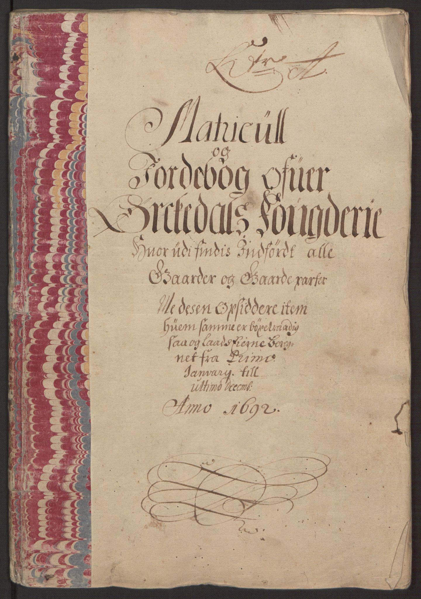 RA, Rentekammeret inntil 1814, Reviderte regnskaper, Fogderegnskap, R58/L3937: Fogderegnskap Orkdal, 1691-1692, s. 185