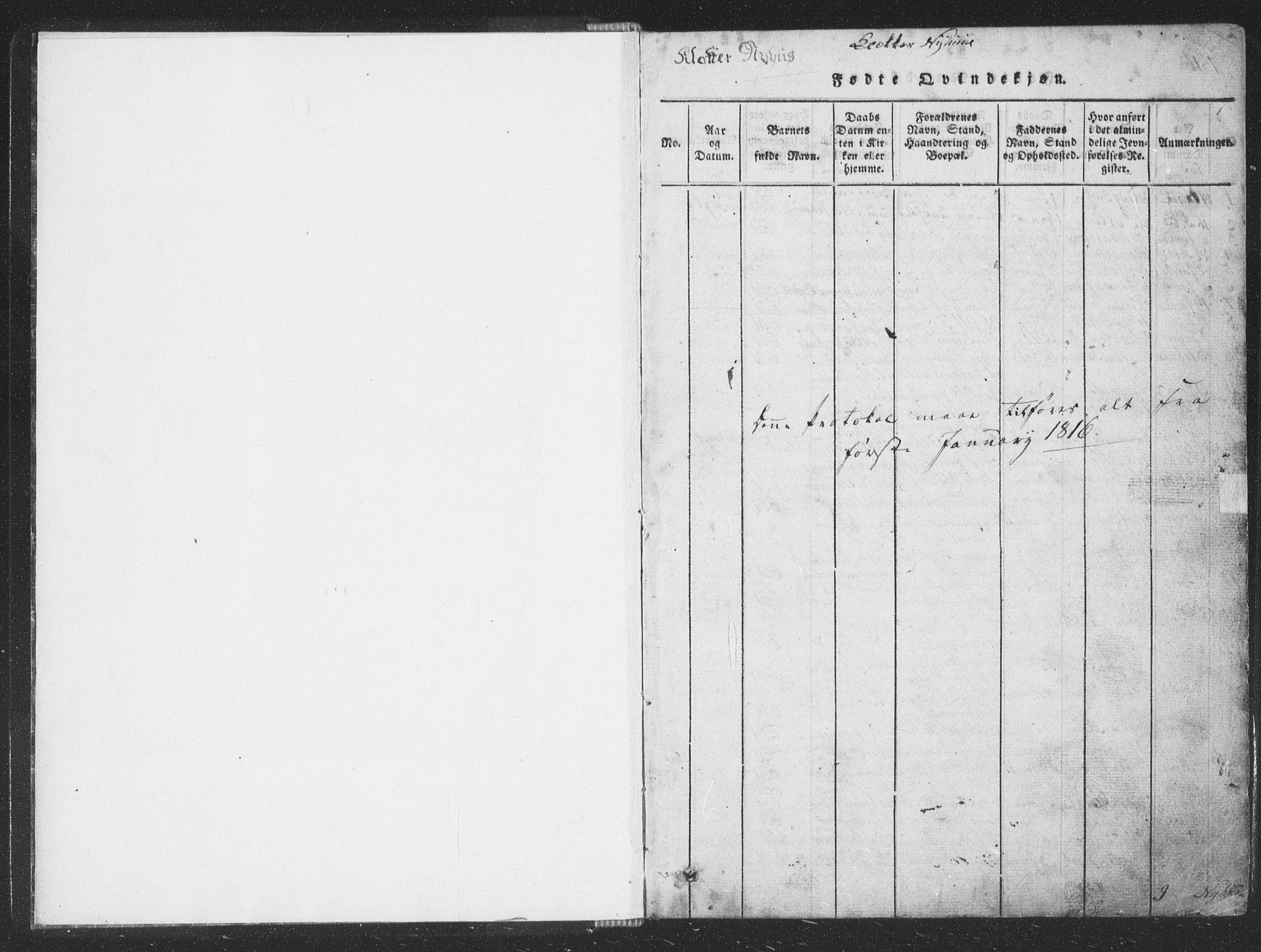 SAT, Ministerialprotokoller, klokkerbøker og fødselsregistre - Sør-Trøndelag, 668/L0816: Klokkerbok nr. 668C05, 1816-1893, s. 0-1