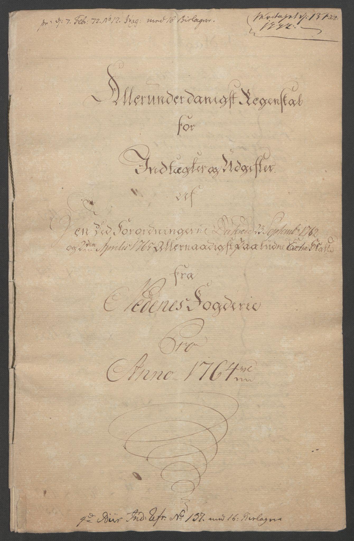 RA, Rentekammeret inntil 1814, Reviderte regnskaper, Fogderegnskap, R39/L2424: Ekstraskatten Nedenes, 1762-1767, s. 87