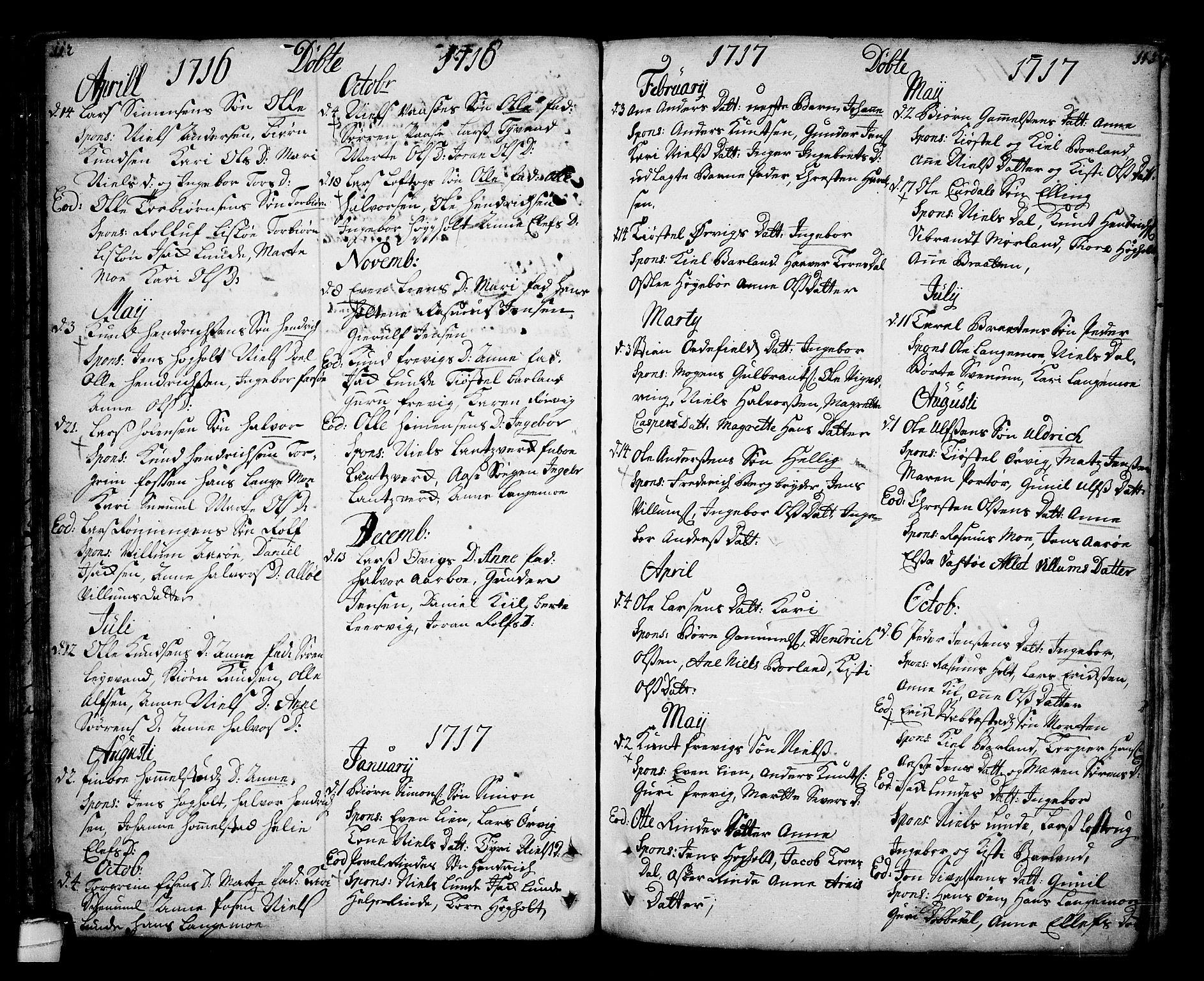 SAKO, Sannidal kirkebøker, F/Fa/L0001: Ministerialbok nr. 1, 1702-1766, s. 112-113