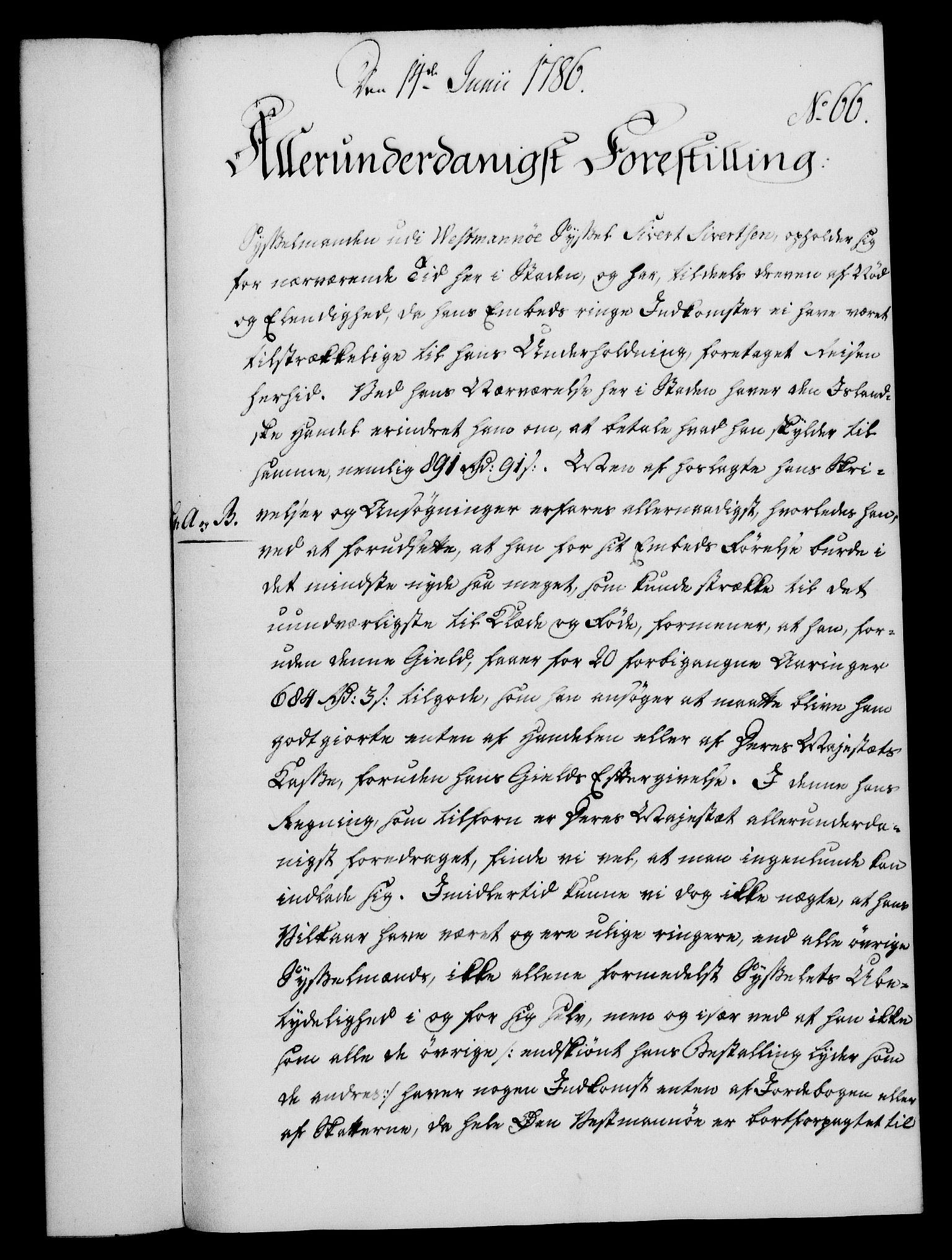 RA, Rentekammeret, Kammerkanselliet, G/Gf/Gfa/L0068: Norsk relasjons- og resolusjonsprotokoll (merket RK 52.68), 1786, s. 435