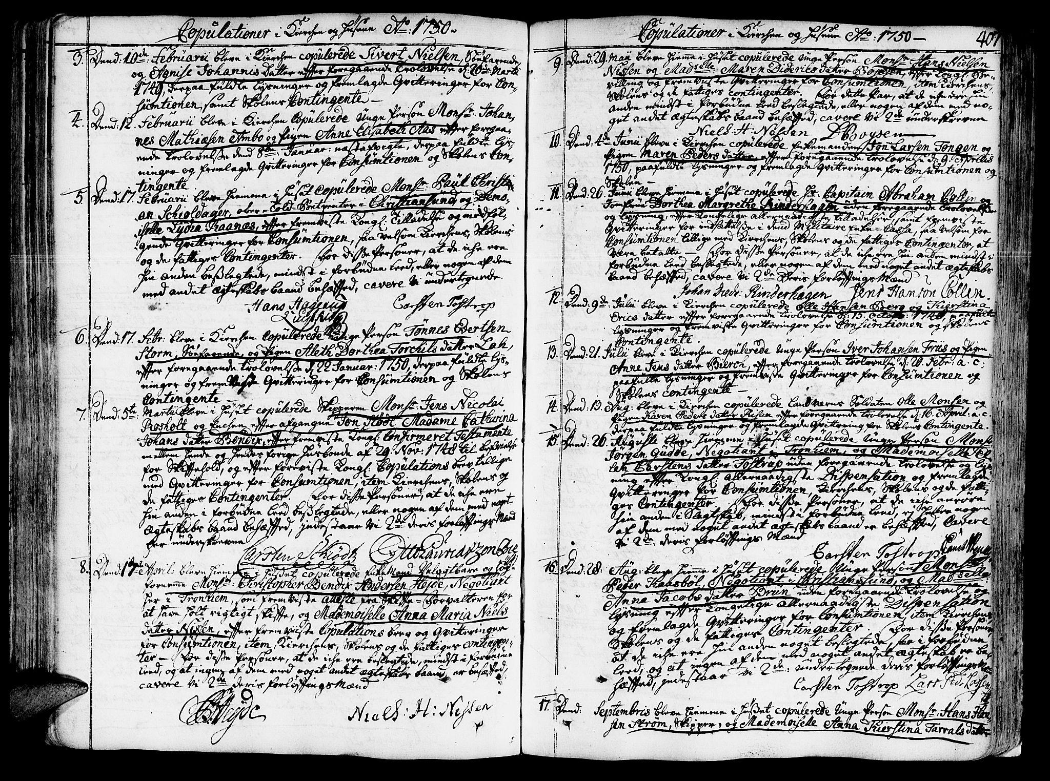 SAT, Ministerialprotokoller, klokkerbøker og fødselsregistre - Sør-Trøndelag, 602/L0103: Ministerialbok nr. 602A01, 1732-1774, s. 407