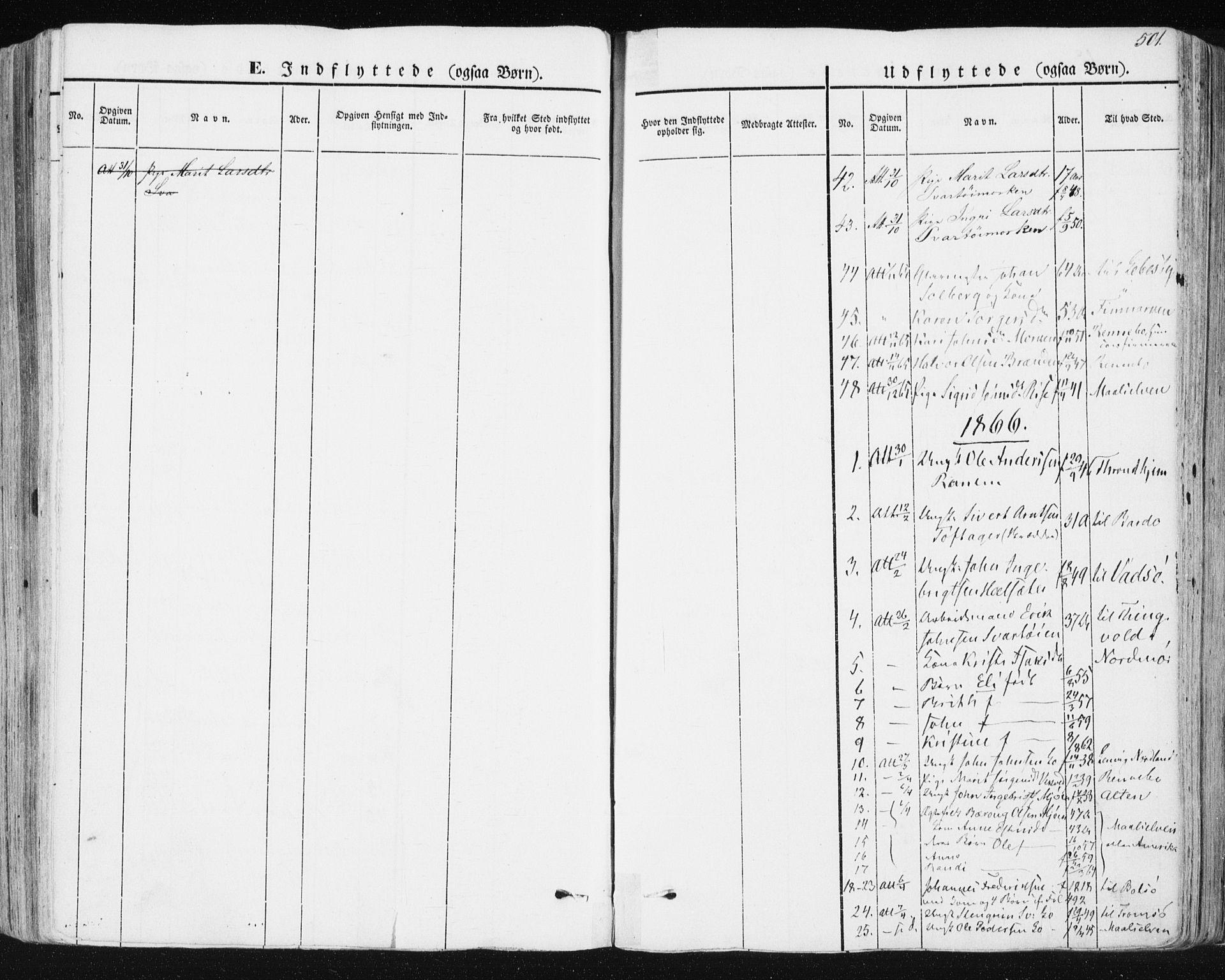 SAT, Ministerialprotokoller, klokkerbøker og fødselsregistre - Sør-Trøndelag, 678/L0899: Ministerialbok nr. 678A08, 1848-1872, s. 501