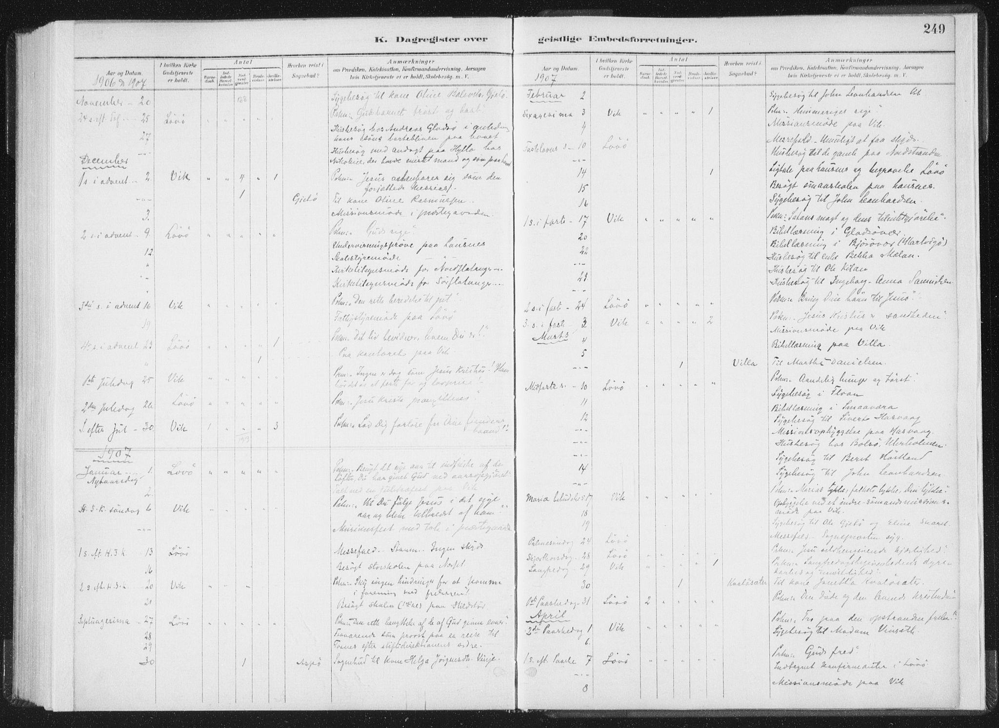 SAT, Ministerialprotokoller, klokkerbøker og fødselsregistre - Nord-Trøndelag, 771/L0597: Ministerialbok nr. 771A04, 1885-1910, s. 249