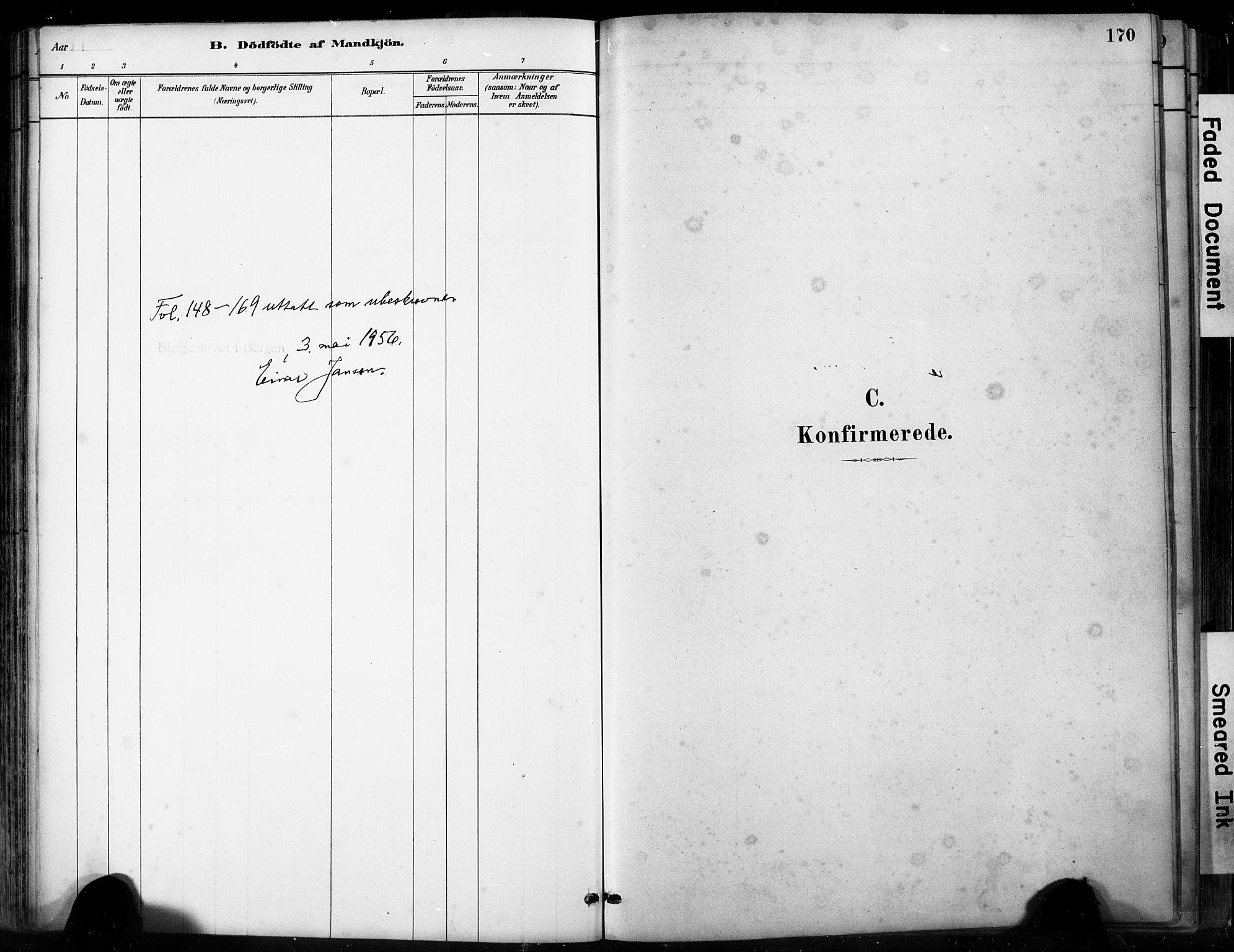 SAB, Fjell sokneprestembete, H/Hab: Klokkerbok nr. A 4, 1880-1899, s. 170