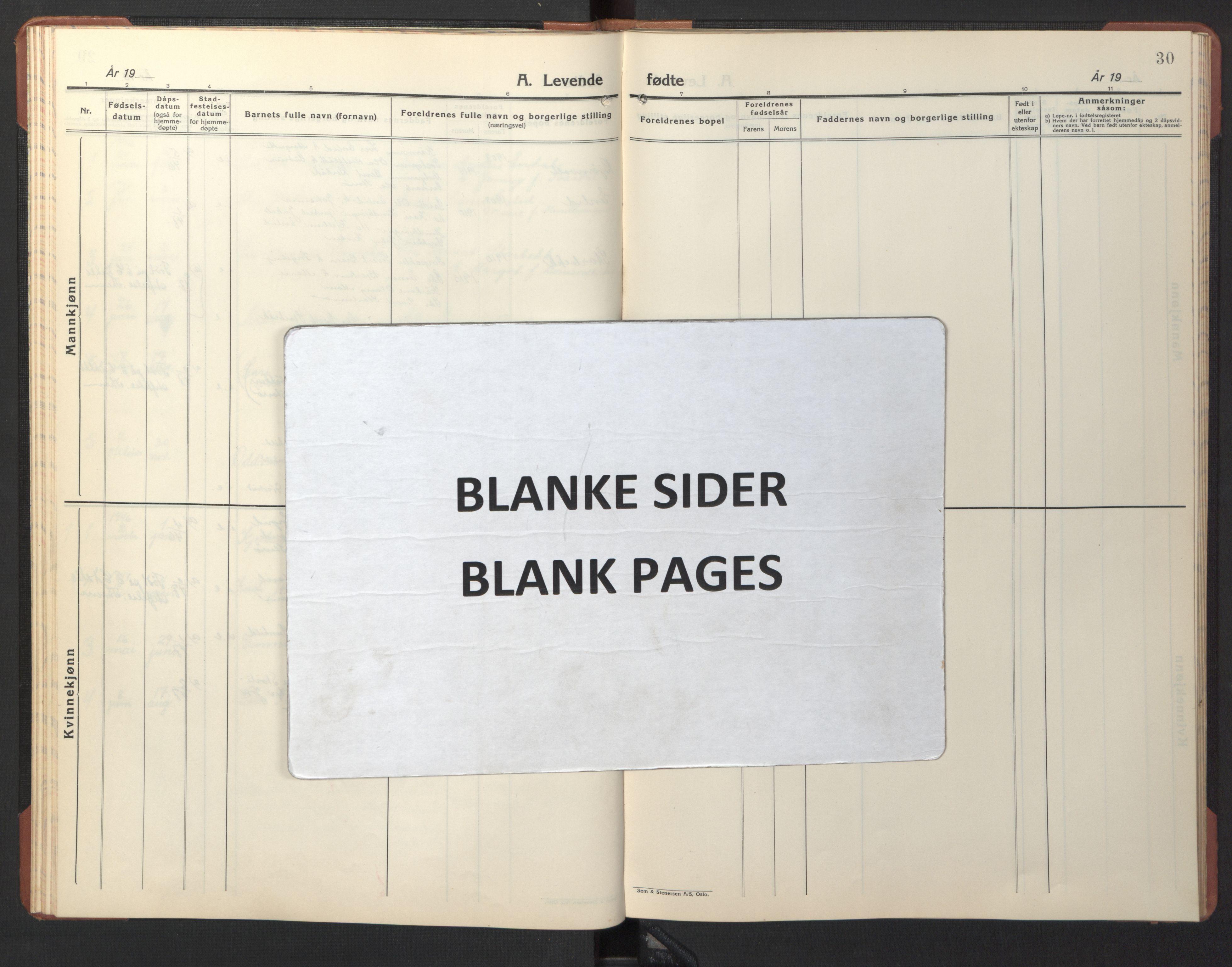 SAT, Ministerialprotokoller, klokkerbøker og fødselsregistre - Sør-Trøndelag, 690/L1053: Klokkerbok nr. 690C03, 1930-1947, s. 30
