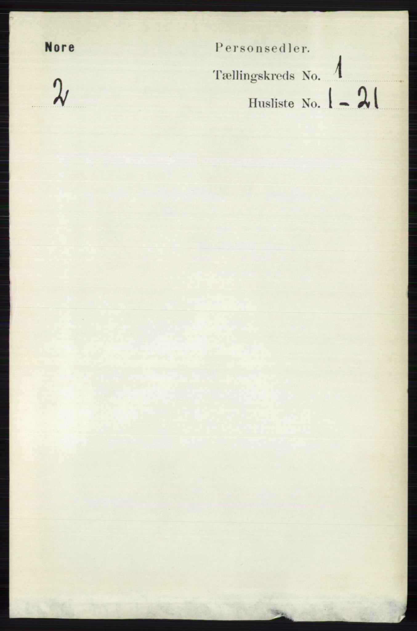 RA, Folketelling 1891 for 0633 Nore herred, 1891, s. 59