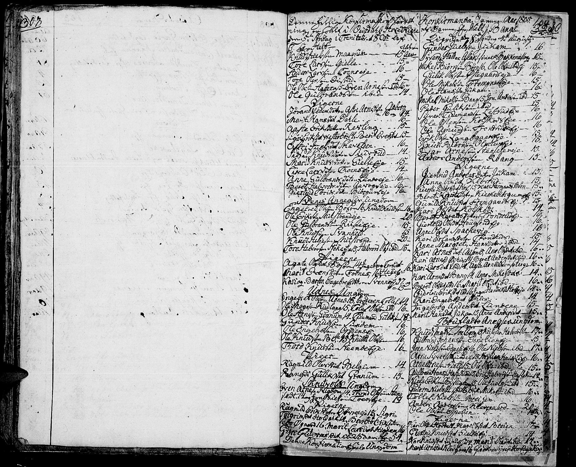 SAH, Aurdal prestekontor, Ministerialbok nr. 7, 1800-1808, s. 104