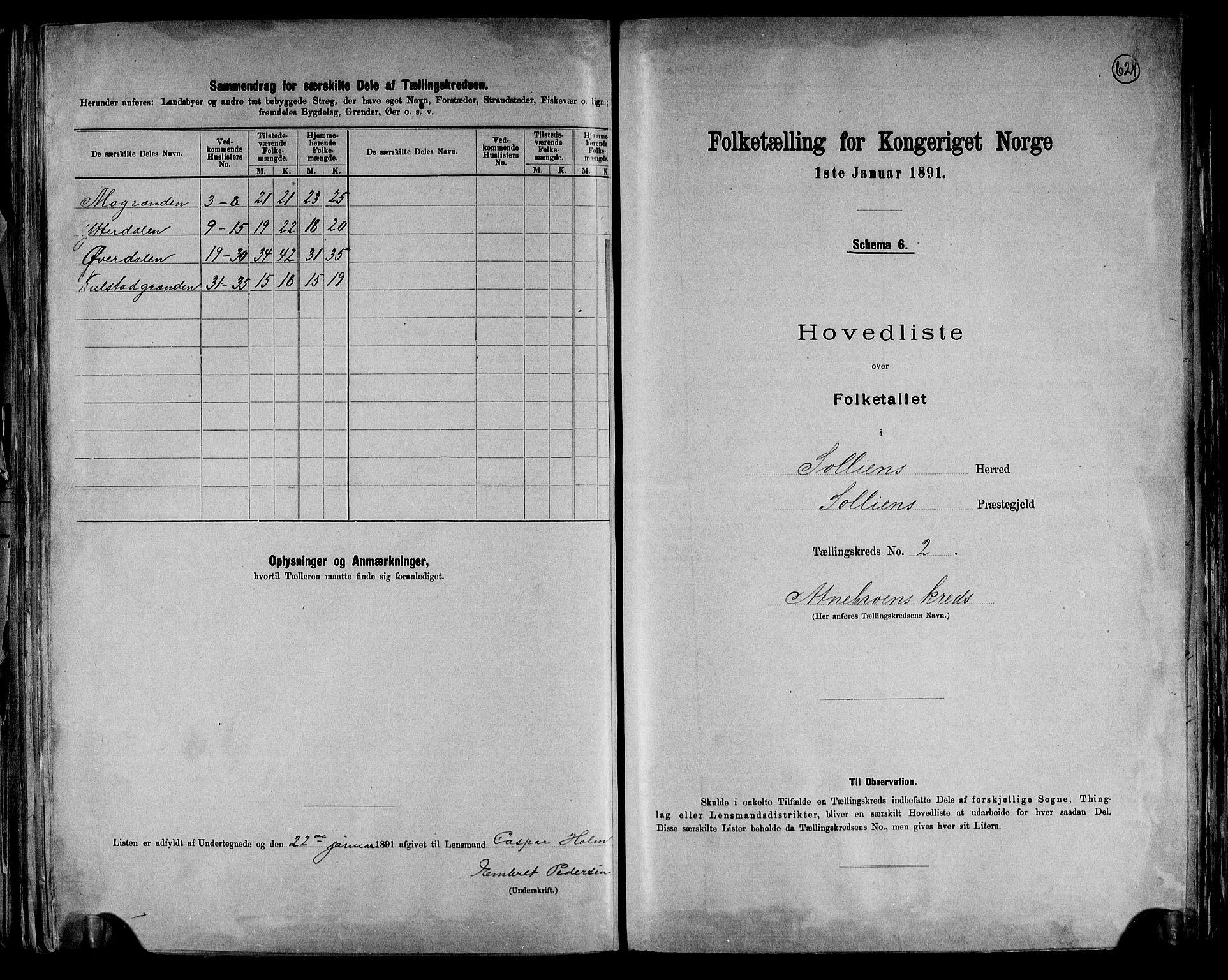 RA, Folketelling 1891 for 0431 Sollia herred, 1891, s. 7