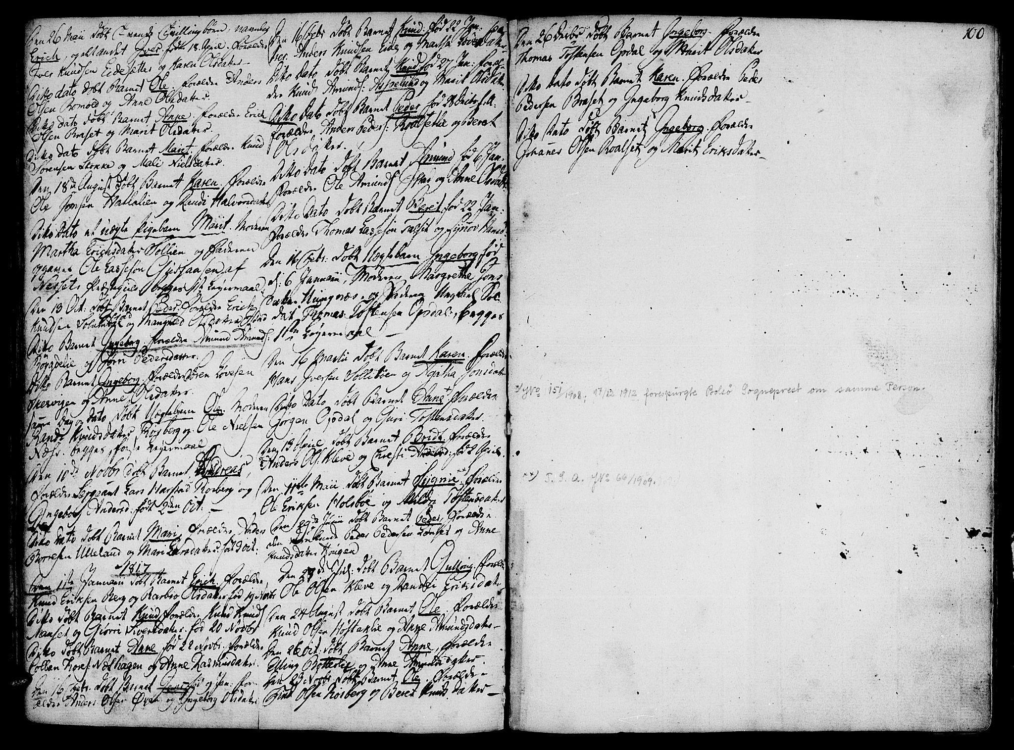 SAT, Ministerialprotokoller, klokkerbøker og fødselsregistre - Møre og Romsdal, 555/L0650: Ministerialbok nr. 555A02 /2, 1798-1821, s. 100