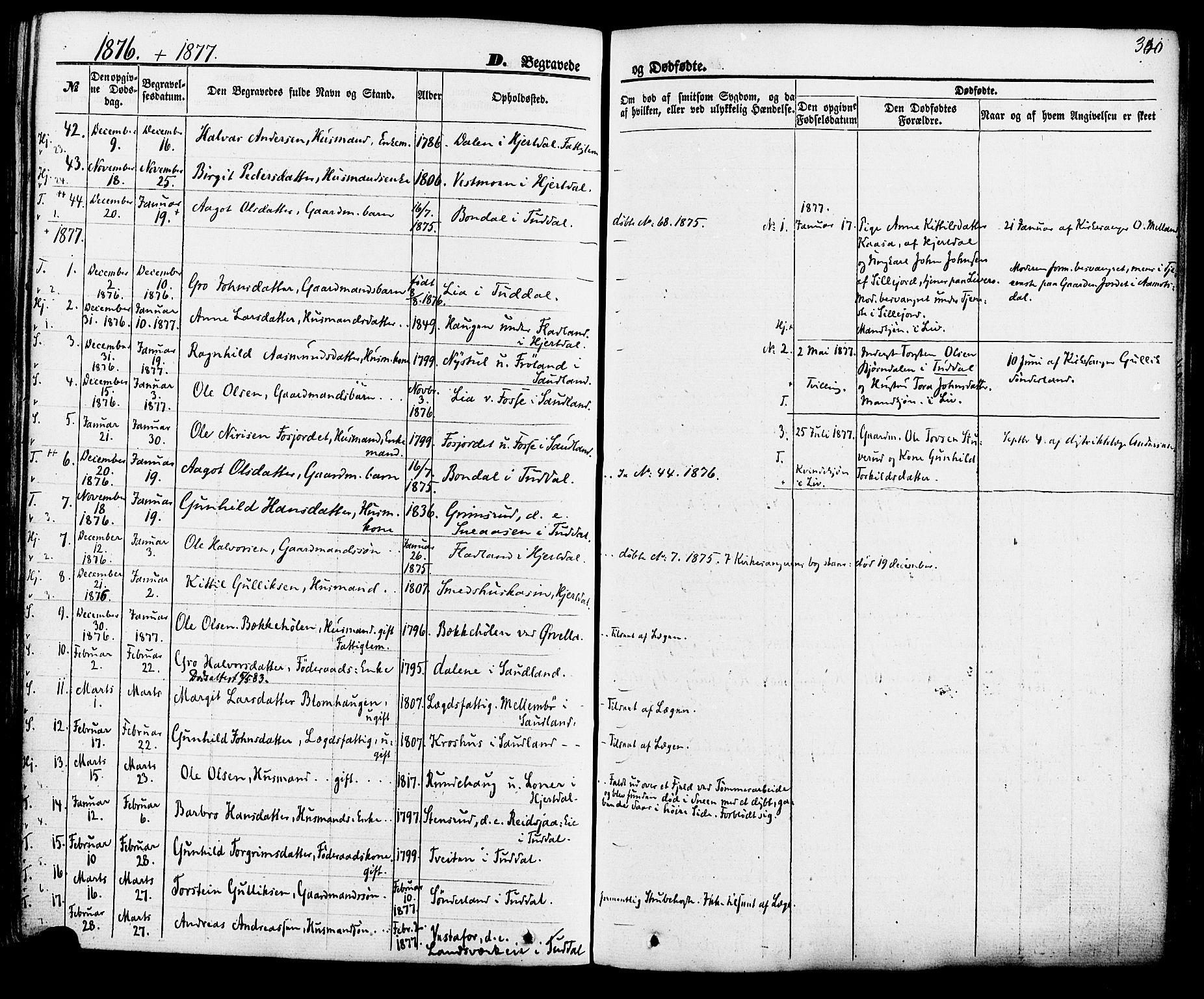 SAKO, Hjartdal kirkebøker, F/Fa/L0009: Ministerialbok nr. I 9, 1860-1879, s. 340