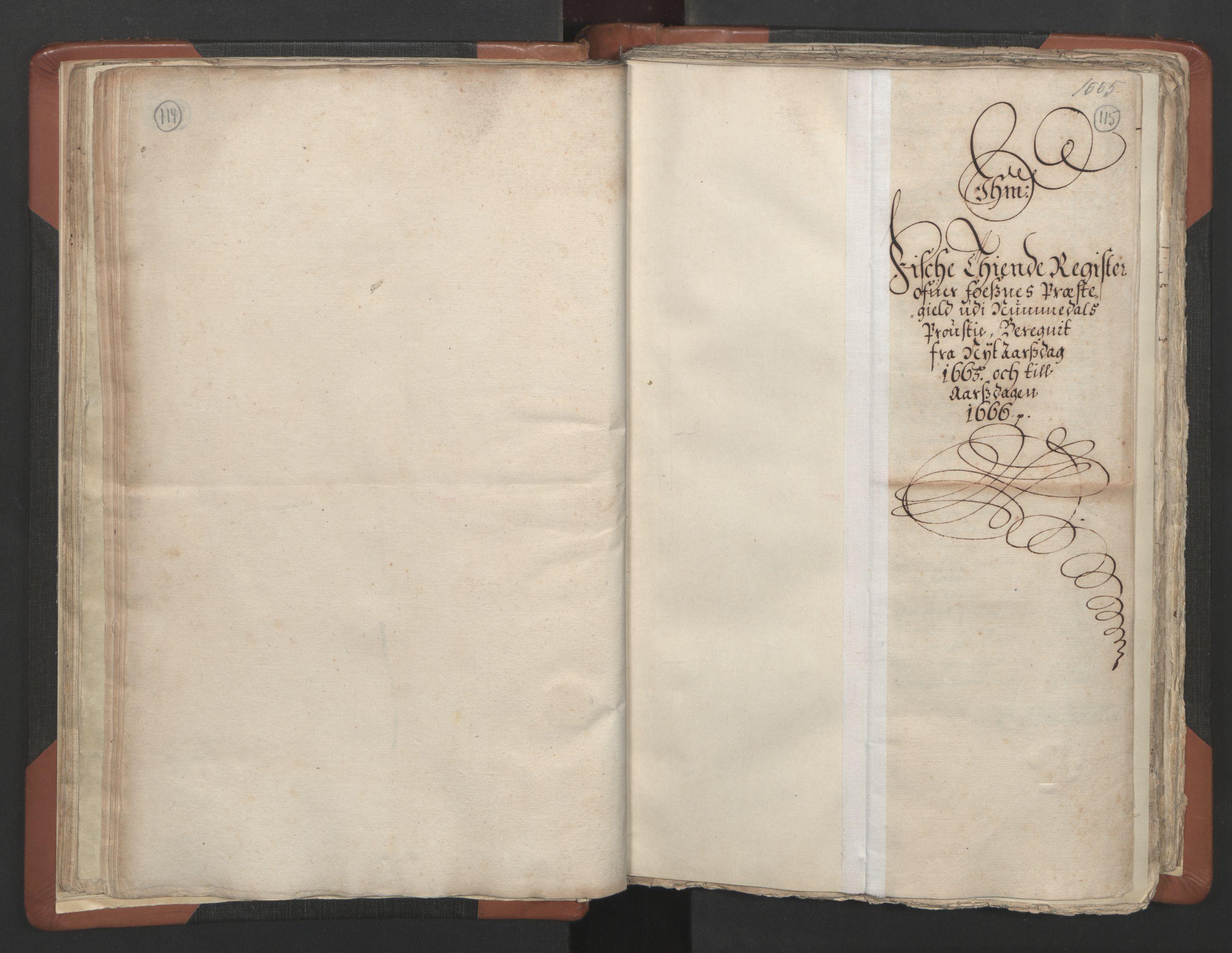 RA, Sogneprestenes manntall 1664-1666, nr. 34: Namdal prosti, 1664-1666, s. 114-115