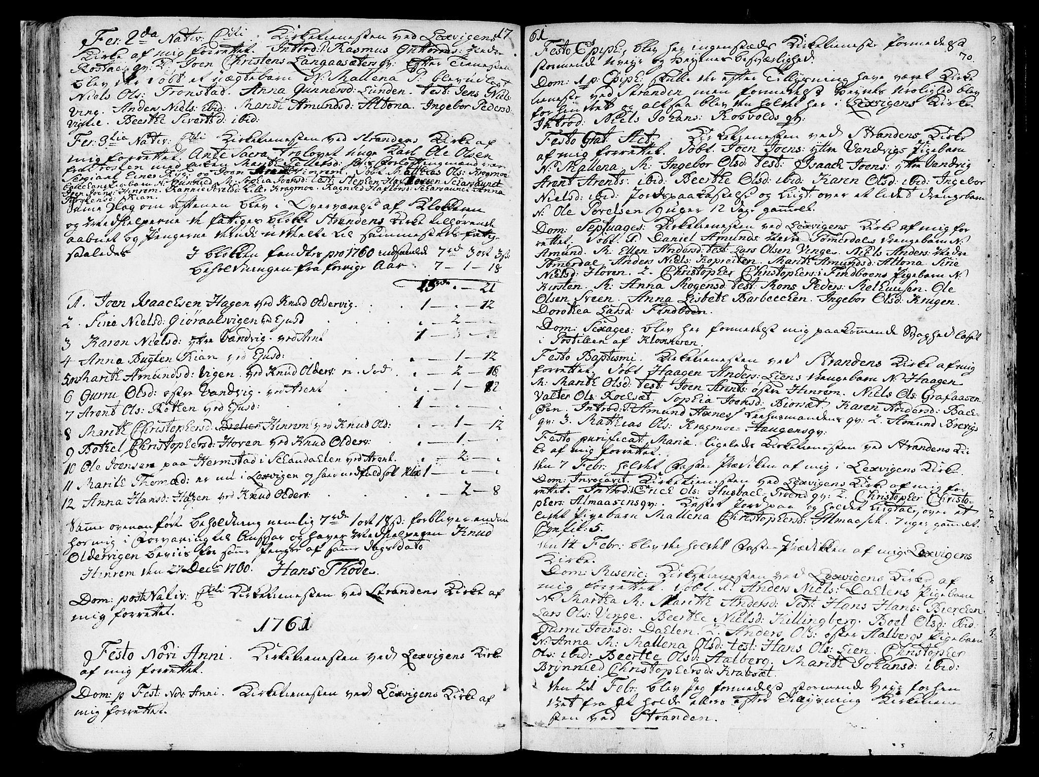 SAT, Ministerialprotokoller, klokkerbøker og fødselsregistre - Nord-Trøndelag, 701/L0003: Ministerialbok nr. 701A03, 1751-1783, s. 70