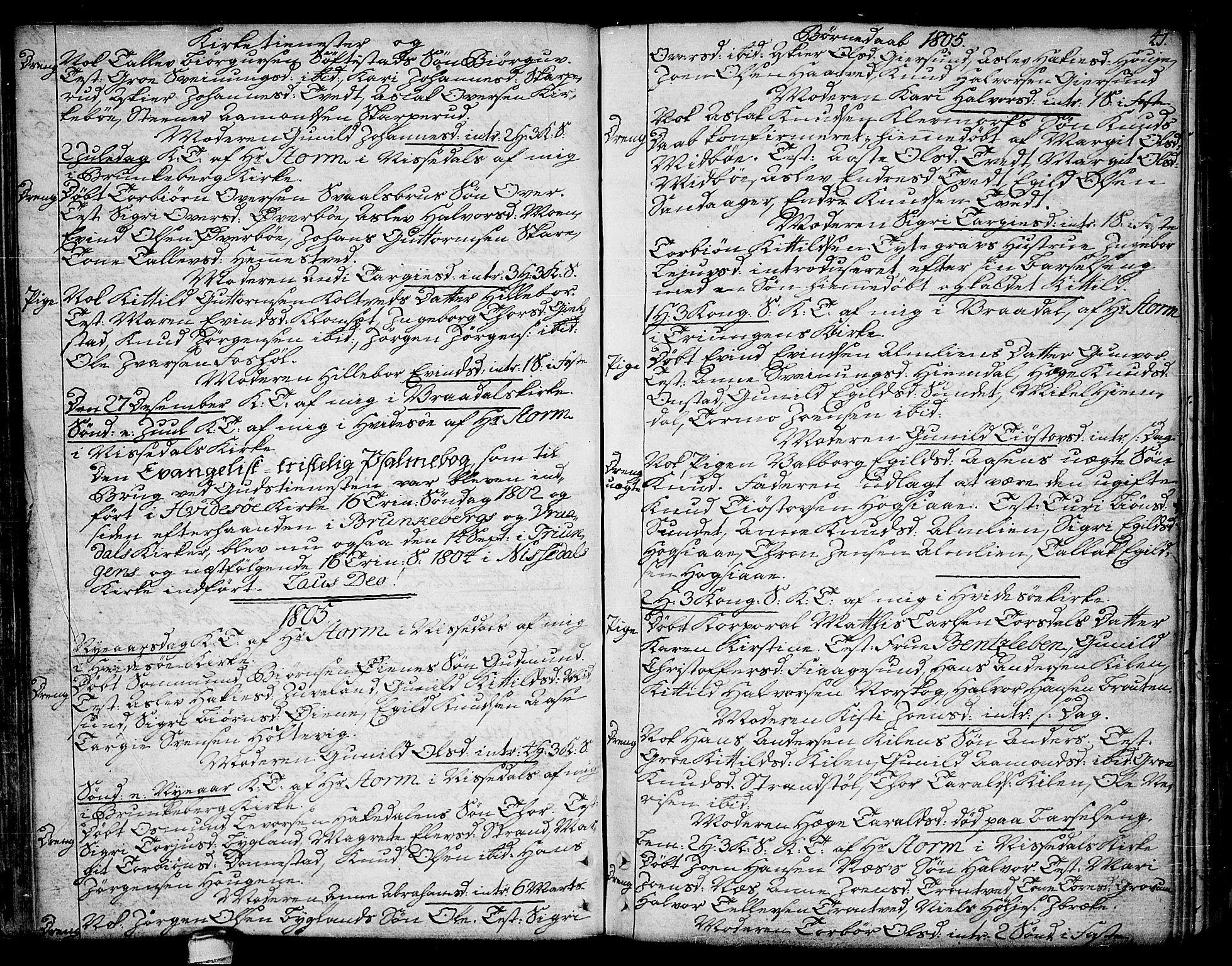 SAKO, Kviteseid kirkebøker, F/Fa/L0004: Ministerialbok nr. I 4, 1800-1814, s. 41