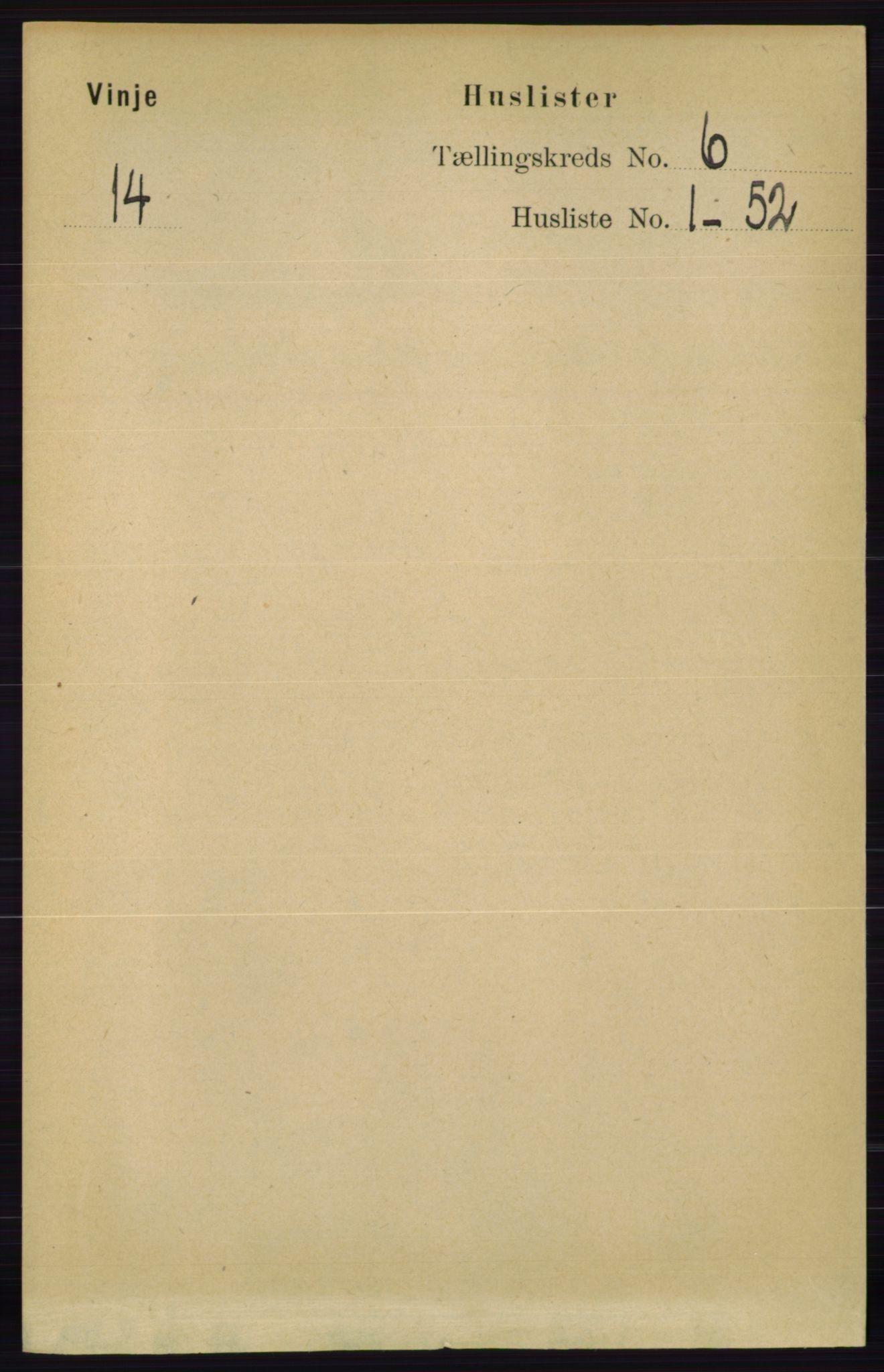 RA, Folketelling 1891 for 0834 Vinje herred, 1891, s. 1356