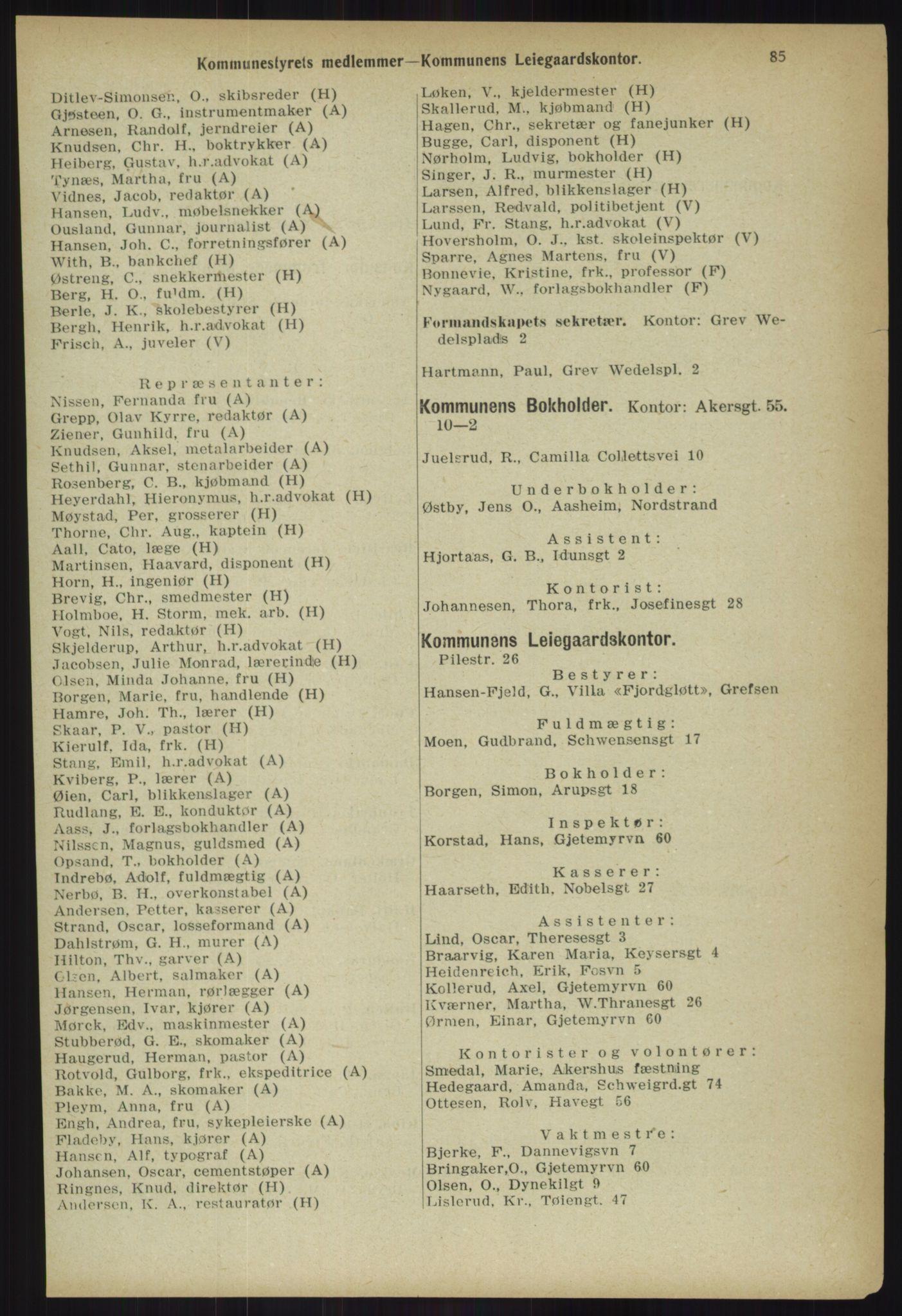 PUBL, Kristiania/Oslo adressebok, 1918, s. 92