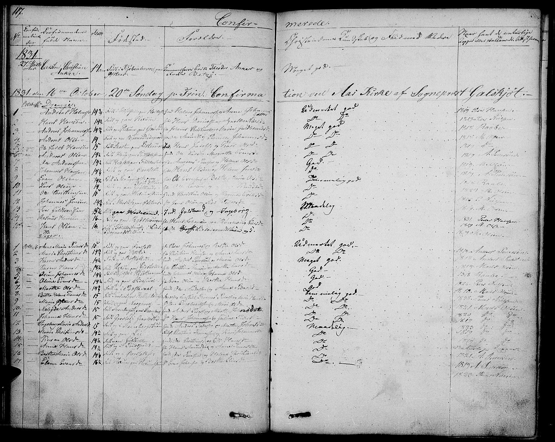 SAH, Vestre Toten prestekontor, Ministerialbok nr. 2, 1825-1837, s. 117