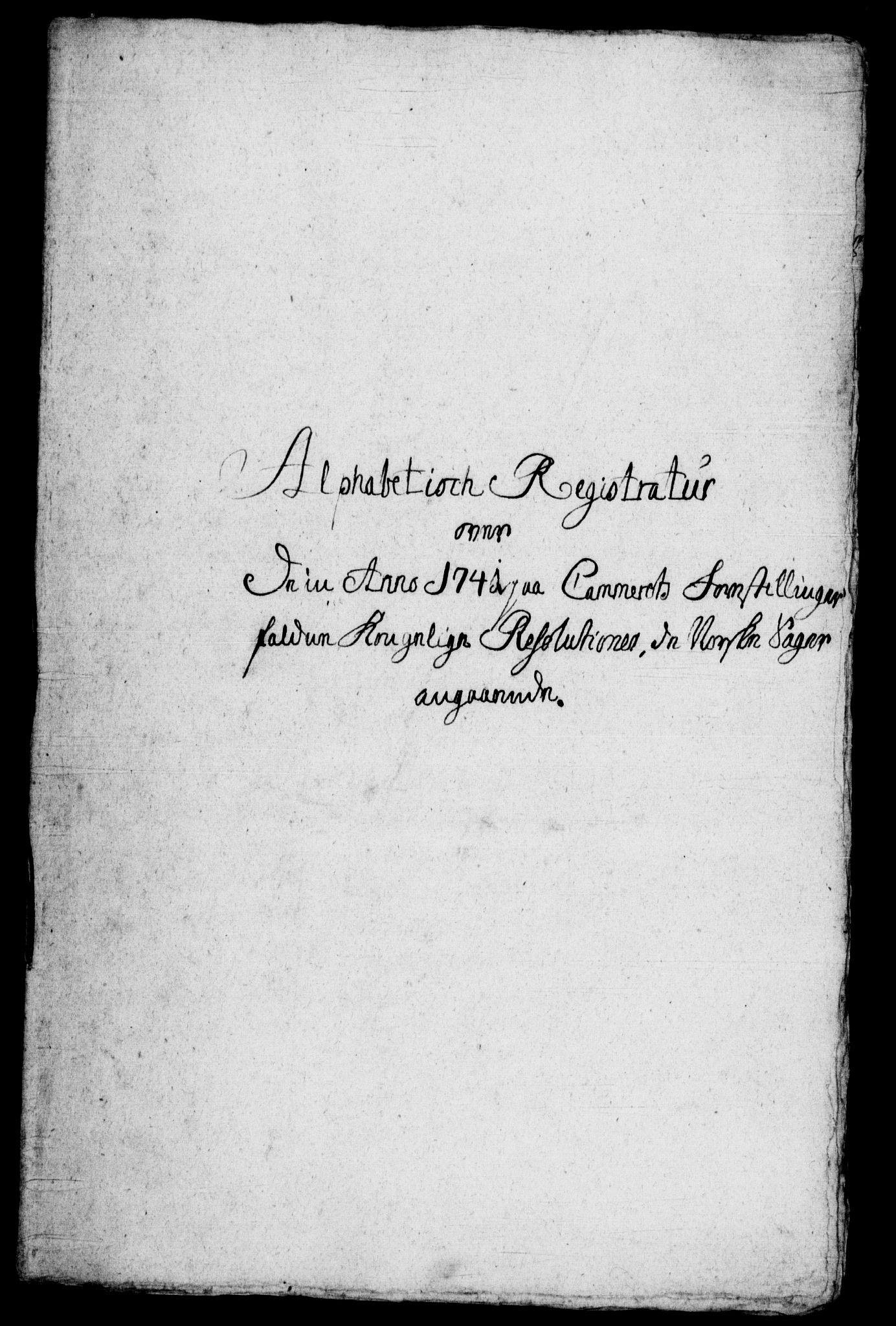 RA, Rentekammeret, Kammerkanselliet, G/Gf/Gfb/L0001: Register til norske relasjons- og resolusjonsprotokoller (merket RK 52.96), 1720-1749, s. 448