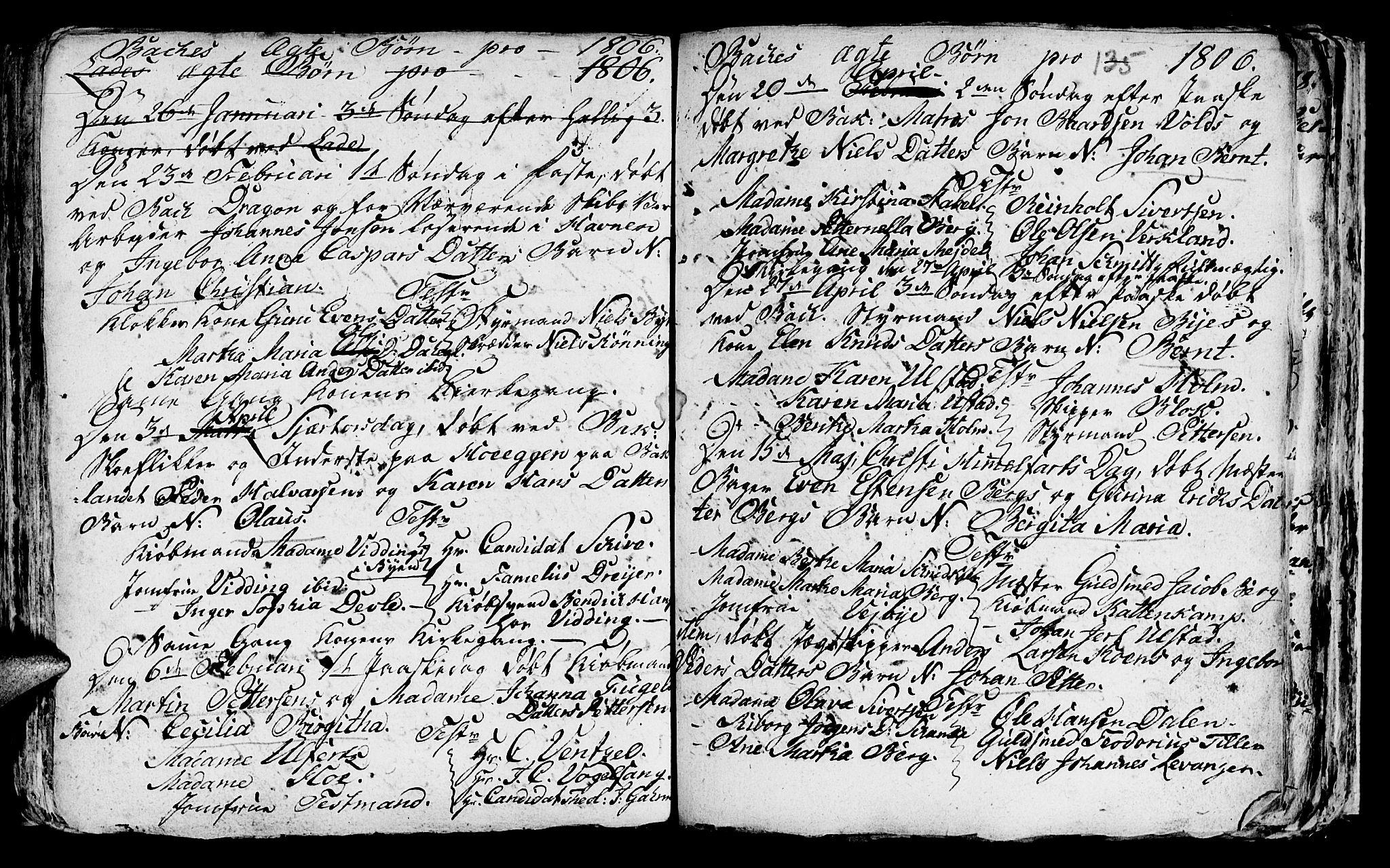 SAT, Ministerialprotokoller, klokkerbøker og fødselsregistre - Sør-Trøndelag, 604/L0218: Klokkerbok nr. 604C01, 1754-1819, s. 135