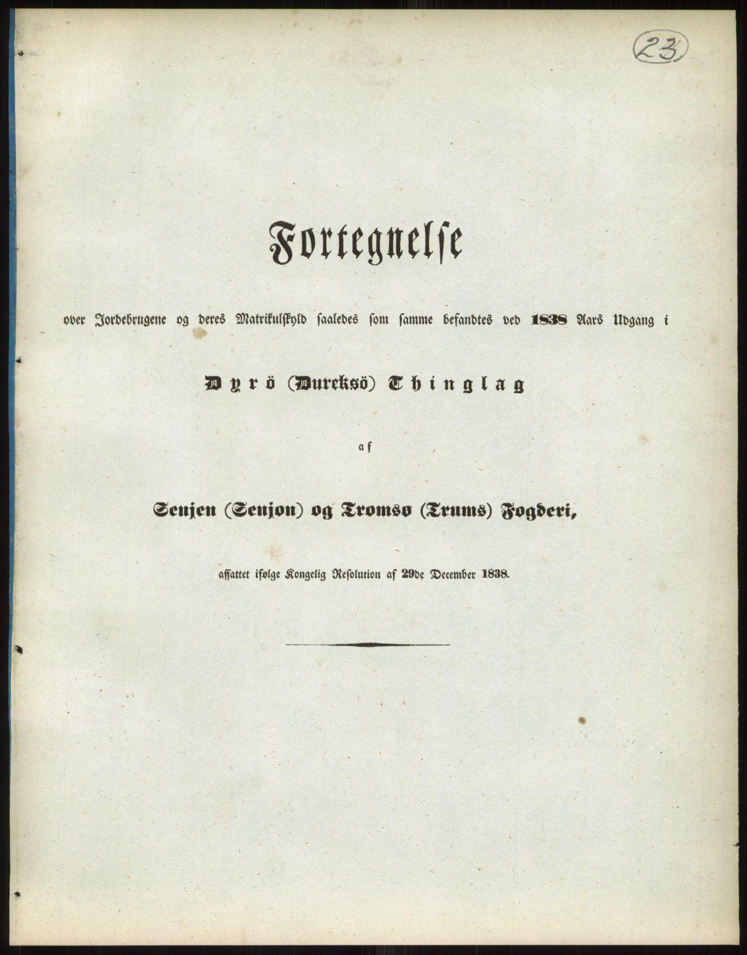 RA, 1838-matrikkelen (publikasjon)*, 1838, s. 23a